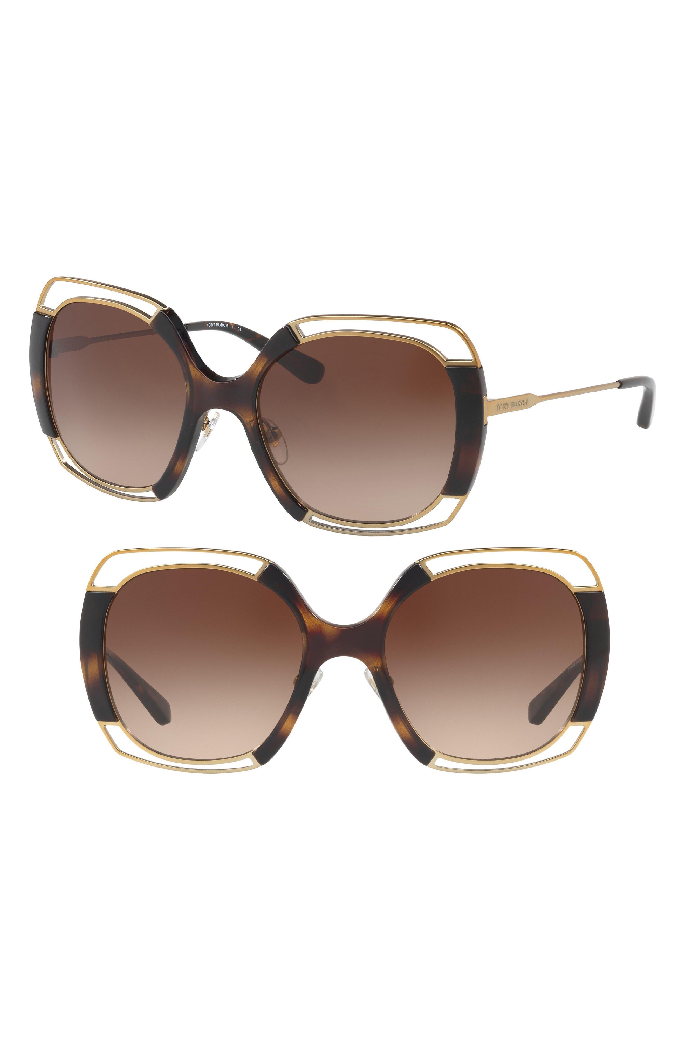 54mm Square Gradient Sunglasses,                             Alternate thumbnail 7, color,