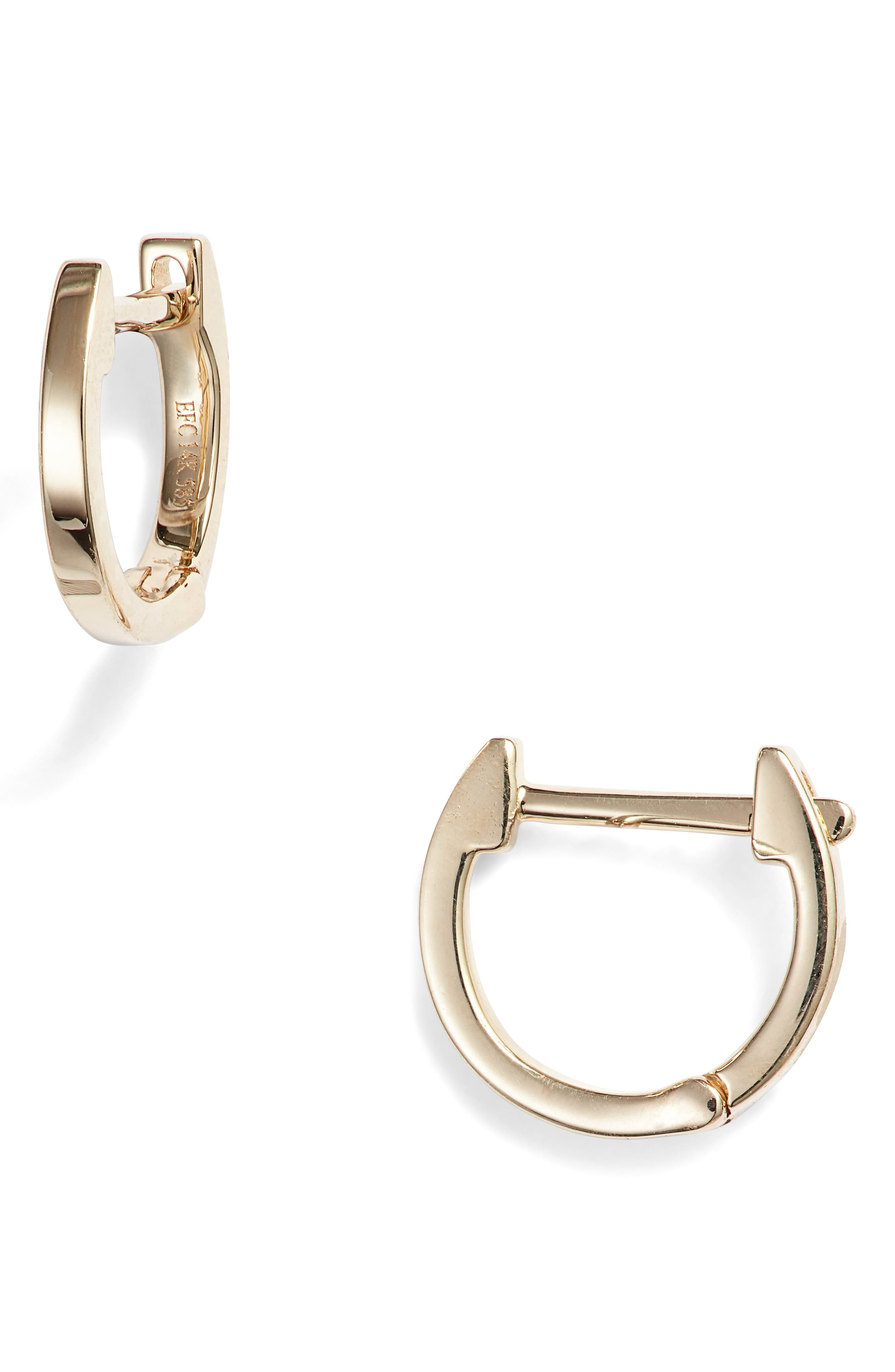 EF COLLECTION Mini Huggie Hoop Earrings