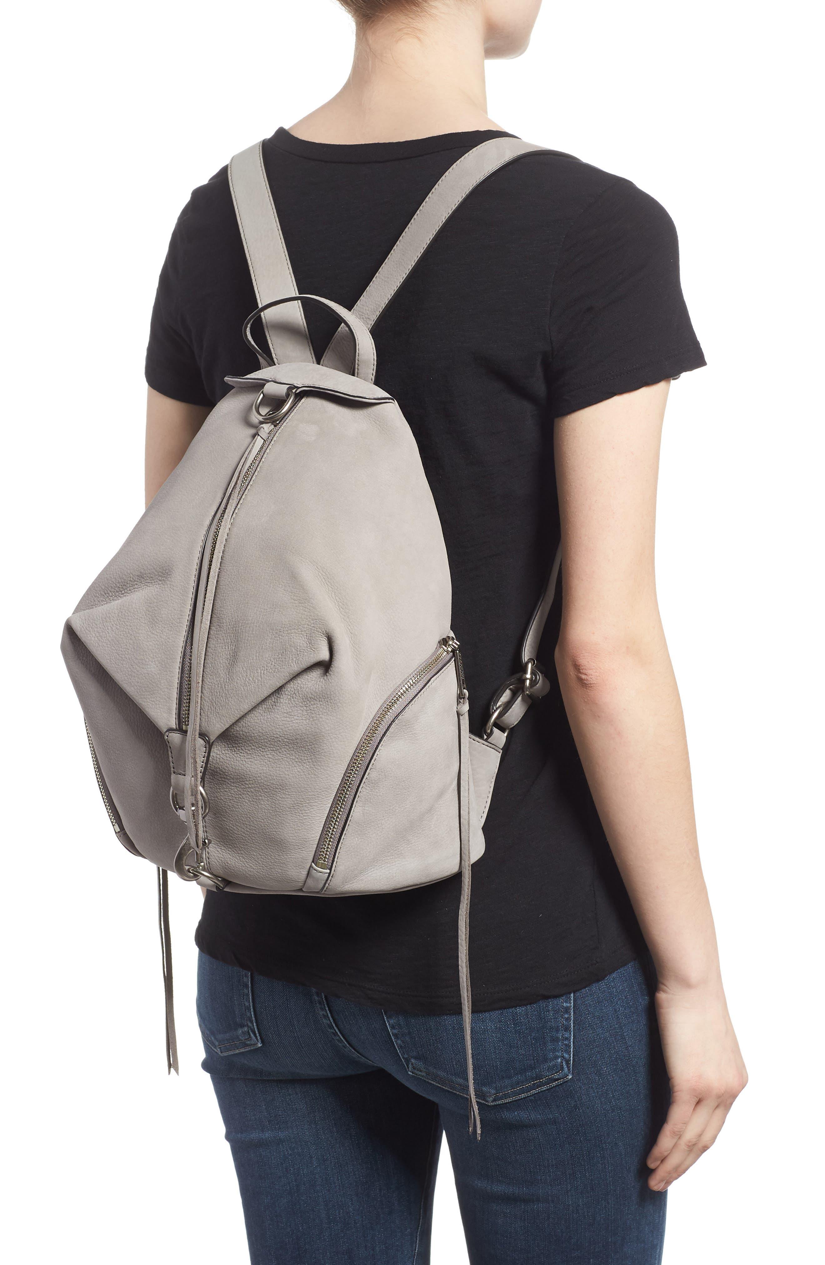 Julian Nubuck Leather Backpack,                             Alternate thumbnail 2, color,                             GREY