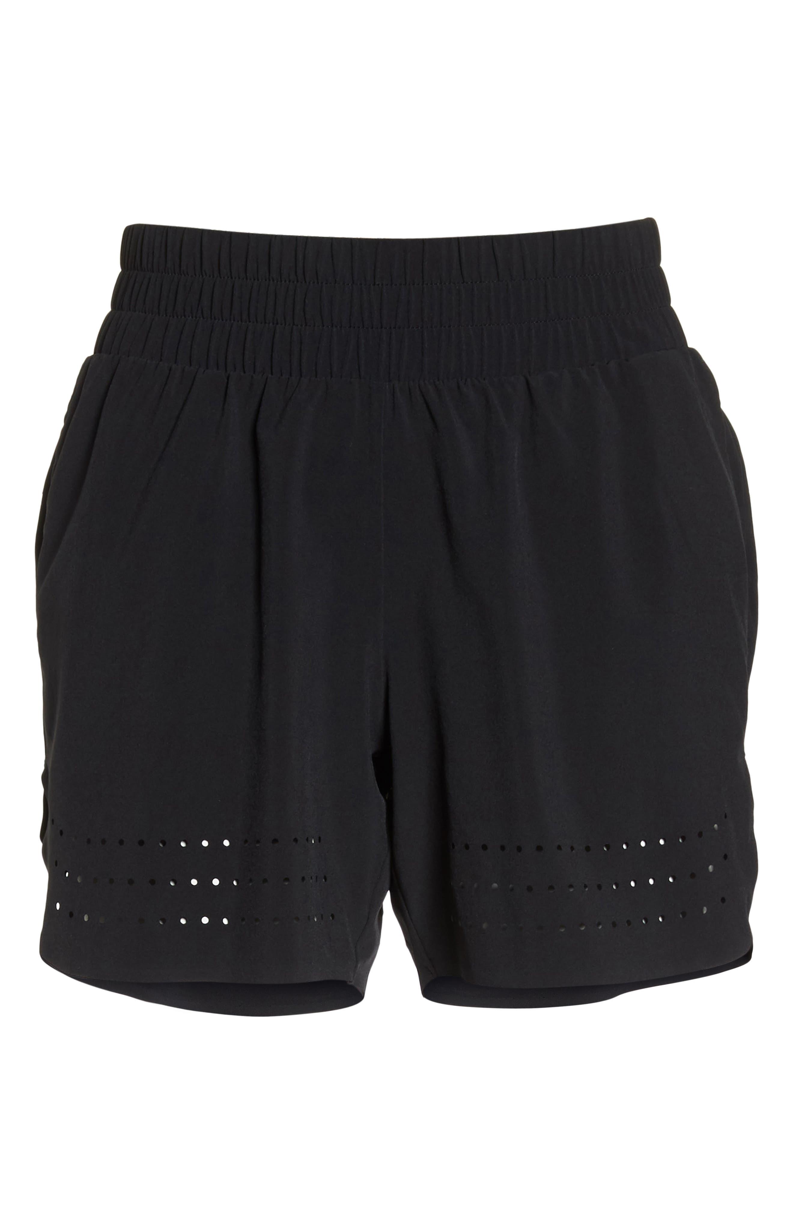 Hoop Shorts,                             Alternate thumbnail 7, color,                             BLACK