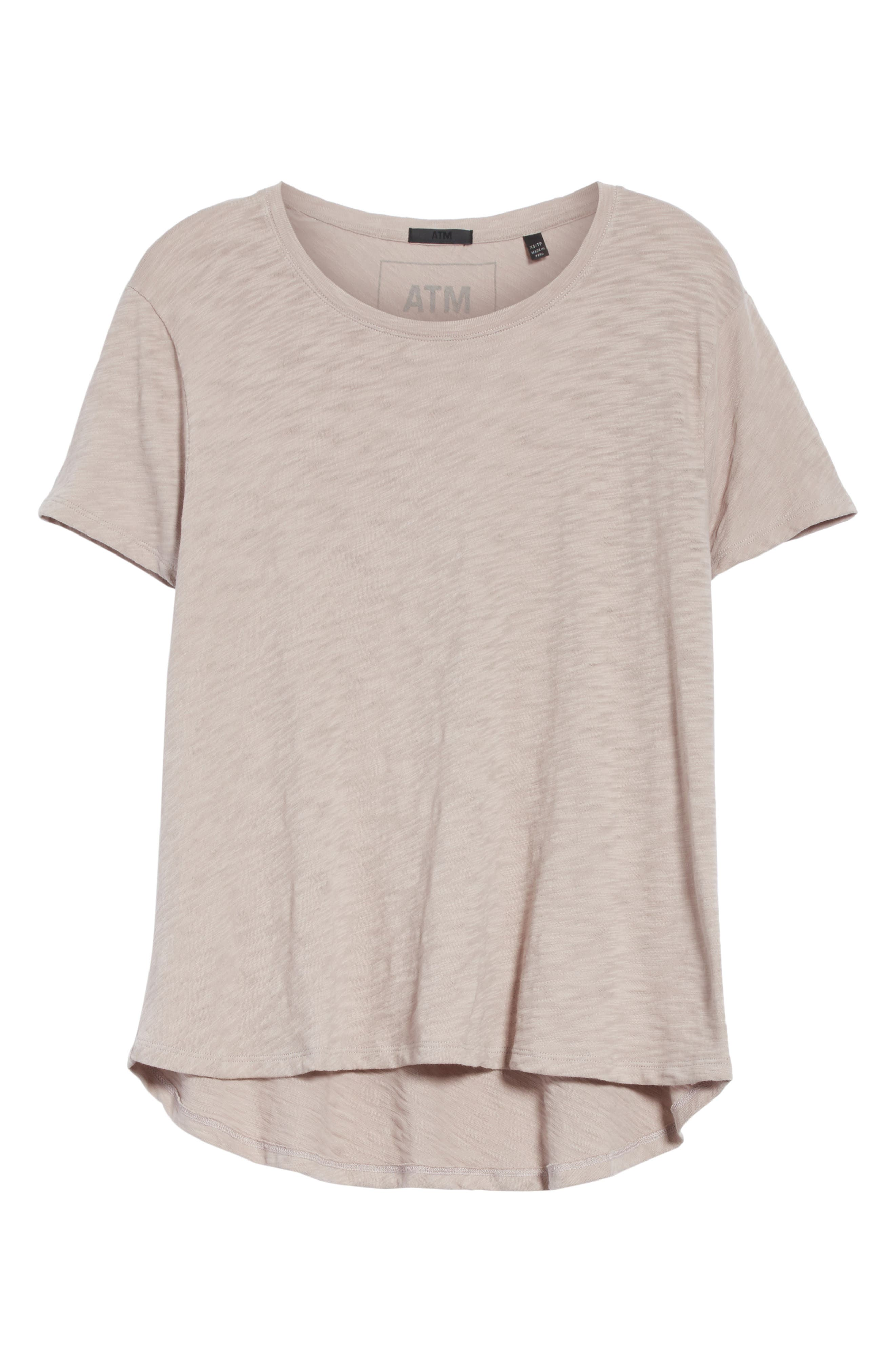 Slub Boyfriend Tee,                             Alternate thumbnail 6, color,                             250