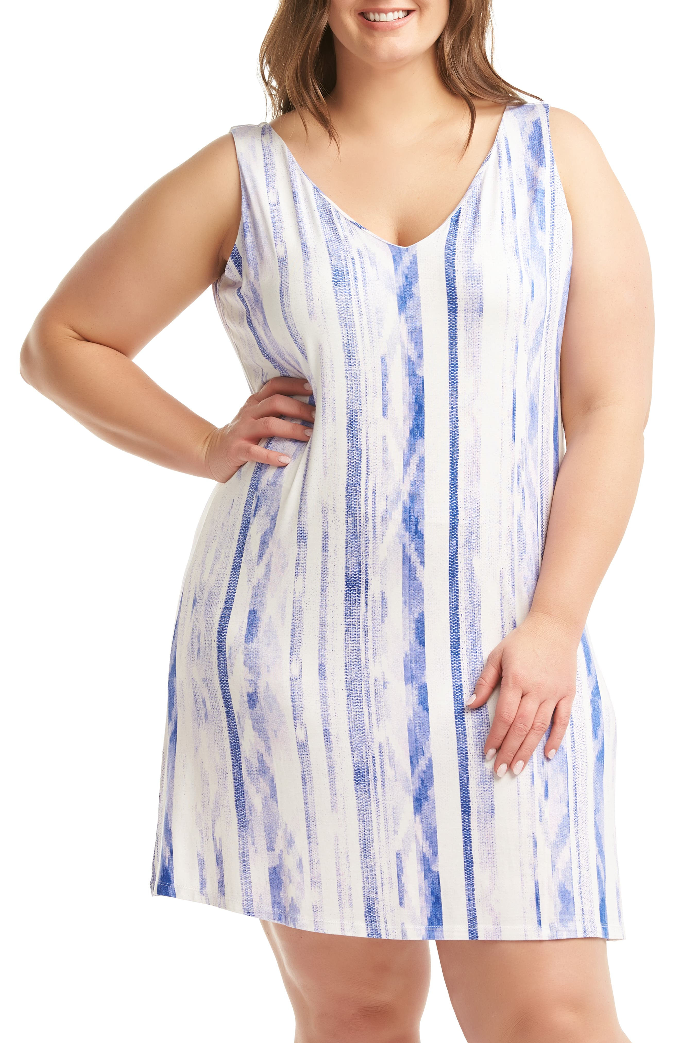 Plus Size Lemon Tart Charlie Dress, White