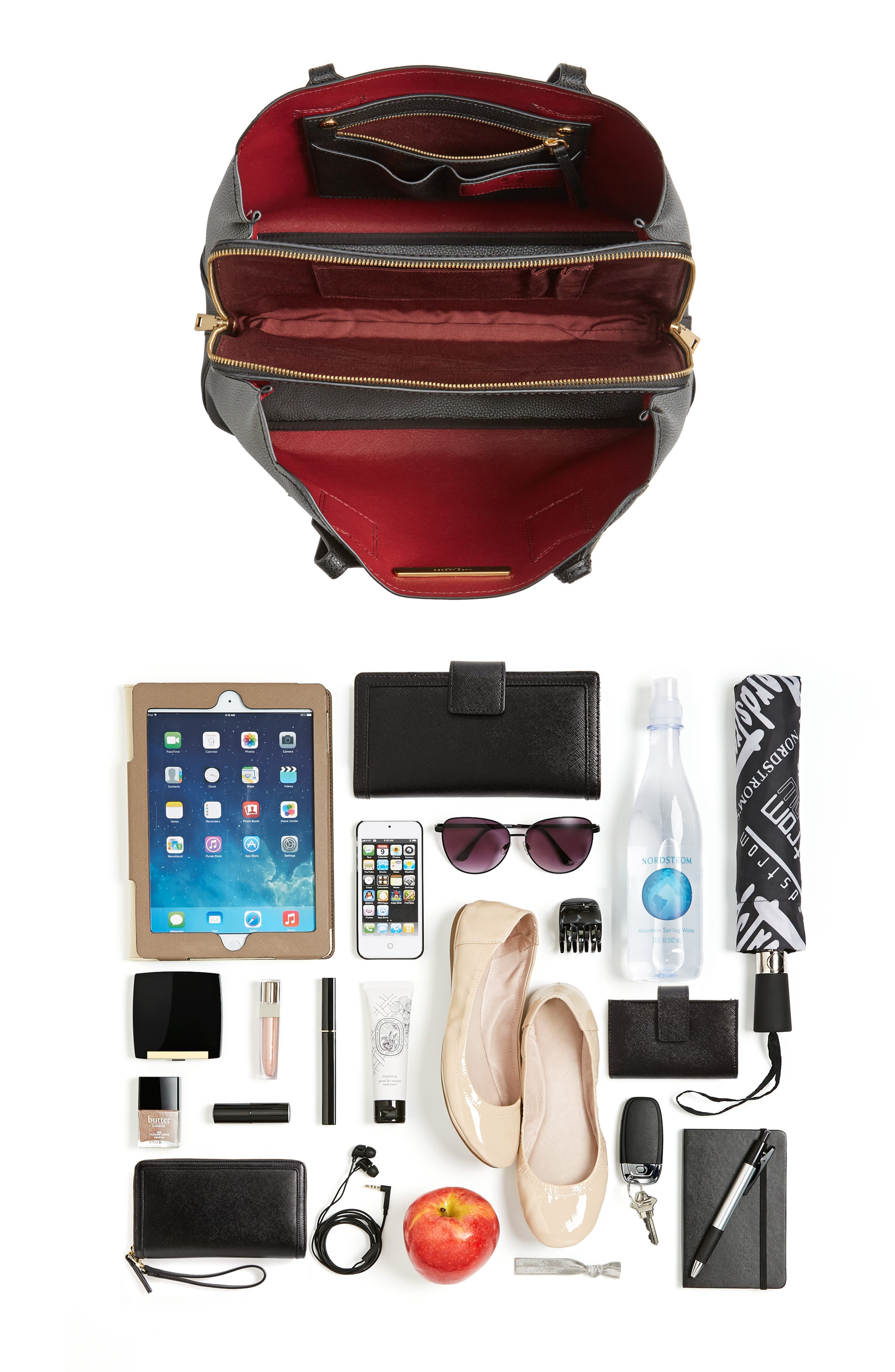 The Editor Leather Tote,                             Alternate thumbnail 7, color,                             001