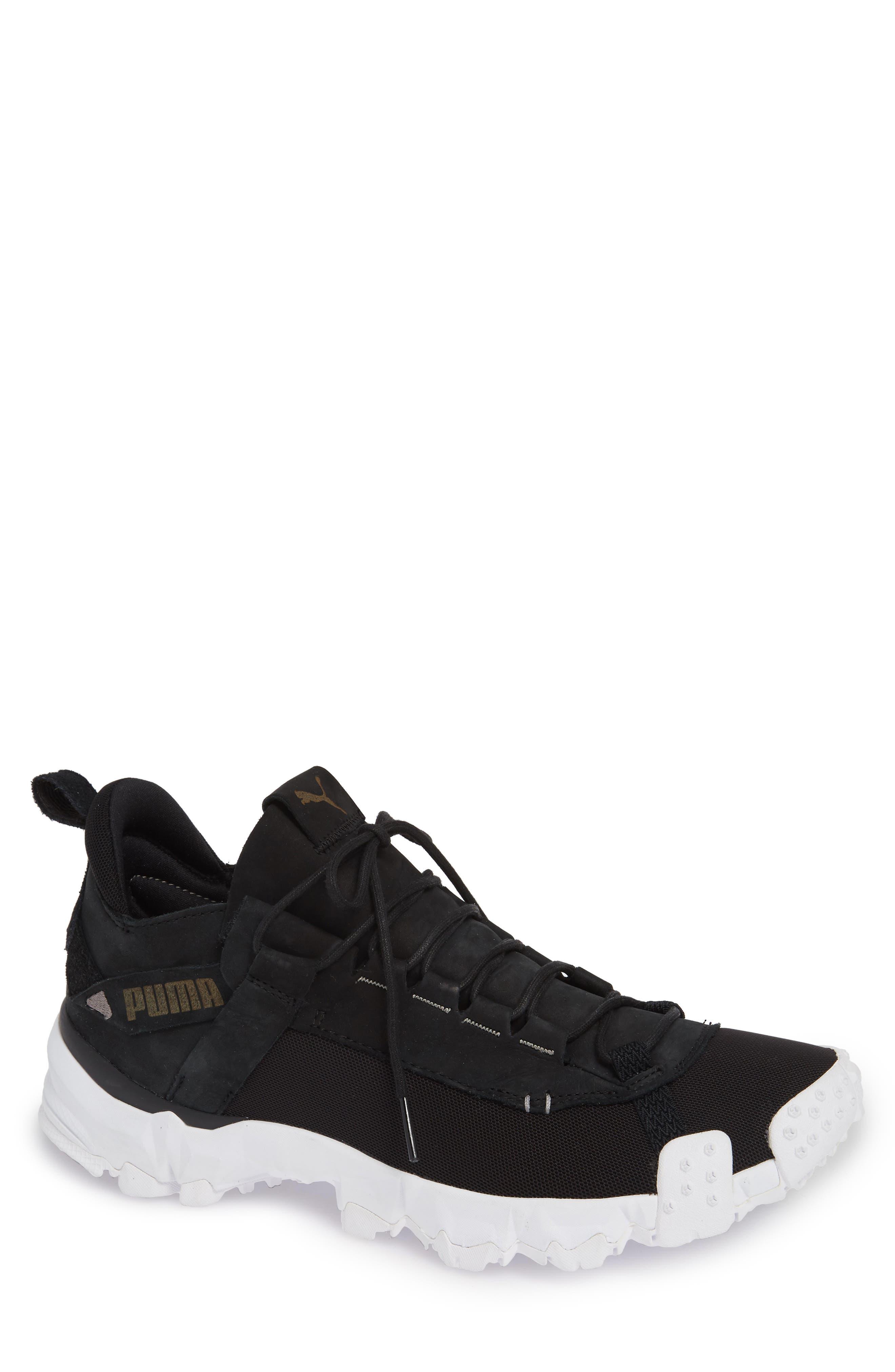 Trailfox Sneaker,                         Main,                         color, BLACK/ WHITE