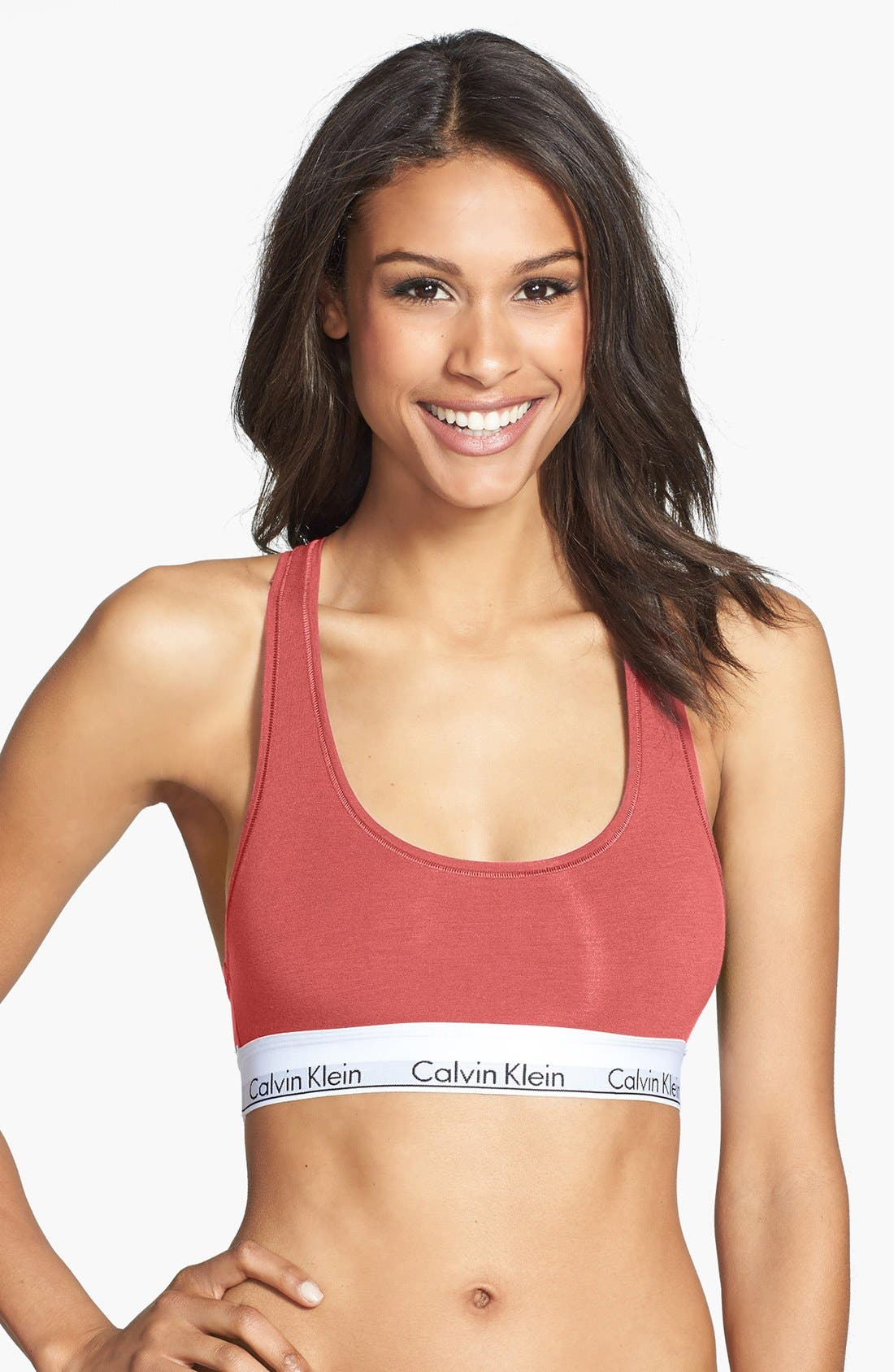 Modern Cotton Collection Cotton Blend Racerback Bralette,                             Main thumbnail 36, color,