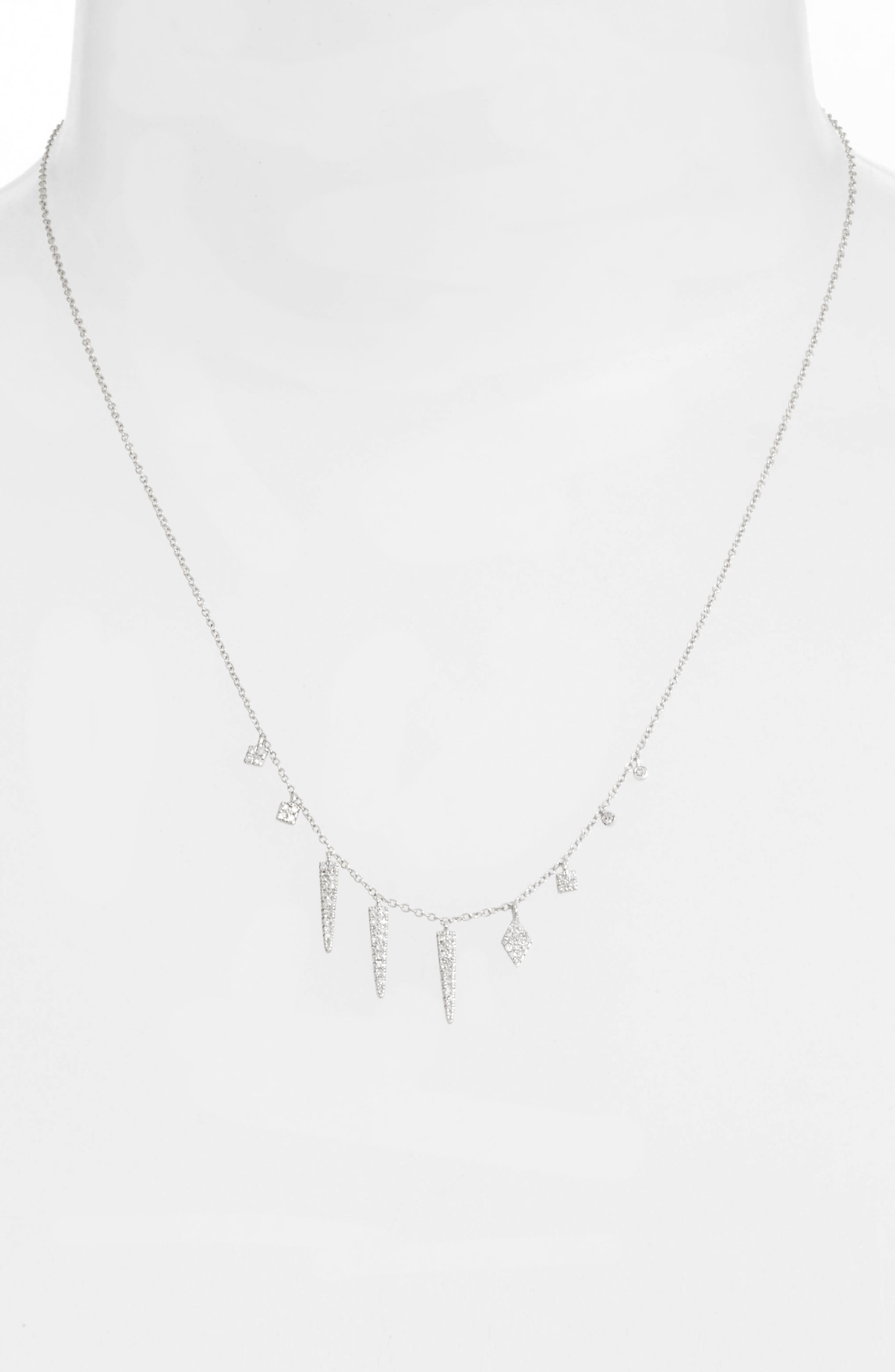 Diamond Spike Dangle Charm Necklace,                             Alternate thumbnail 2, color,                             711