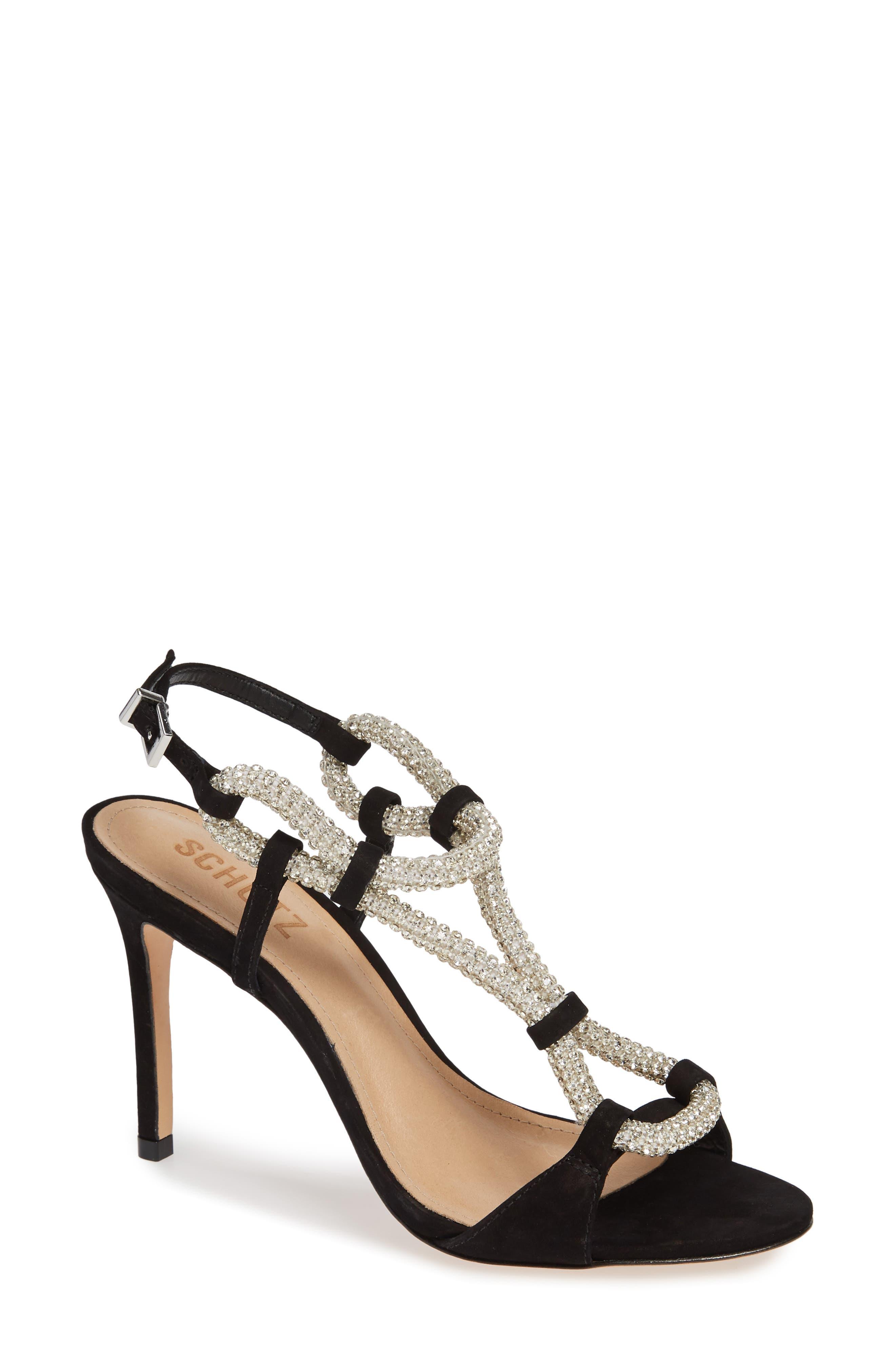 Zemna Sandal,                         Main,                         color, BLACK