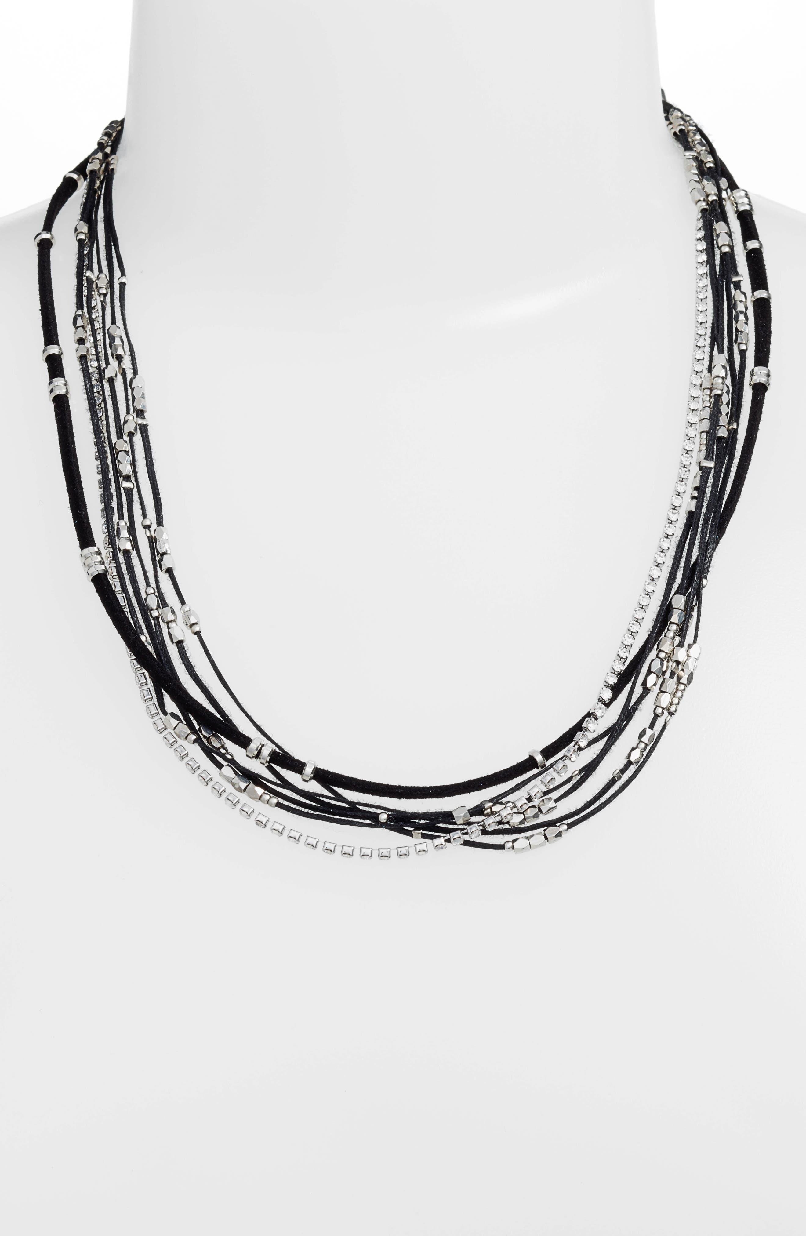 Convertible Wrap Bracelet,                             Alternate thumbnail 2, color,                             BLACK