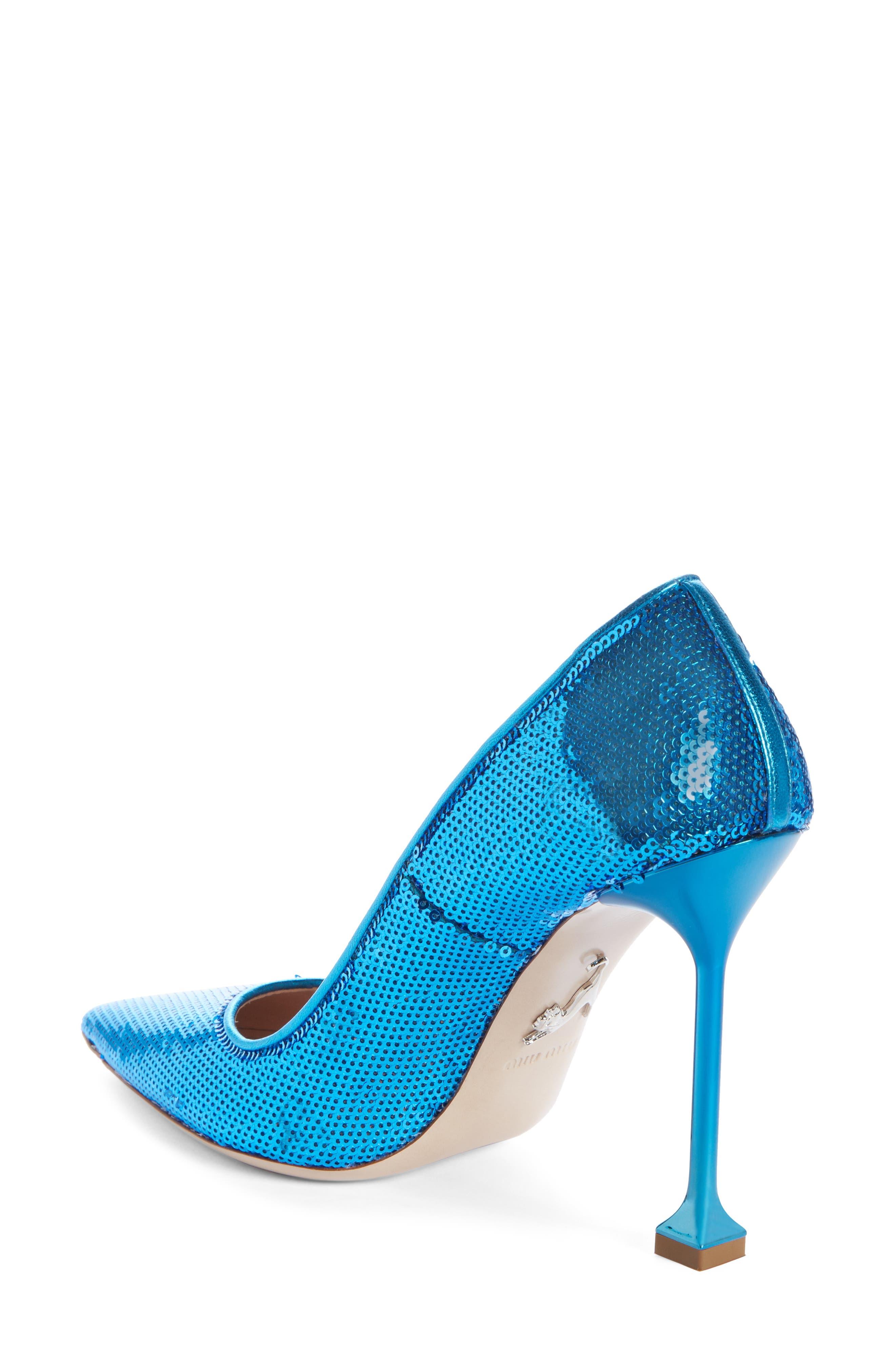 Sequin Pin Heel Pump,                             Alternate thumbnail 2, color,                             MAREA BLUE