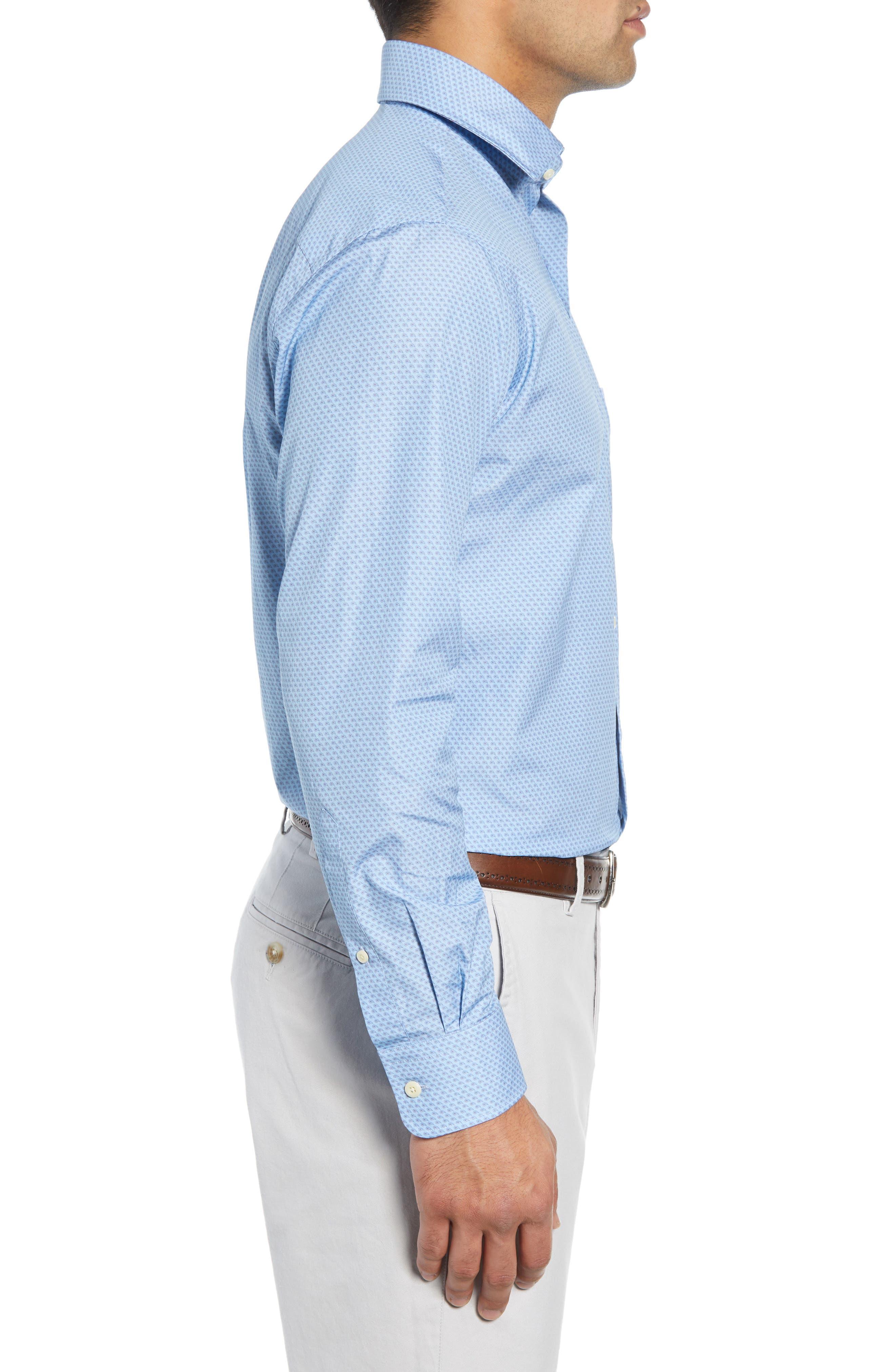 Niblick Regular Fit Sport Shirt,                             Alternate thumbnail 4, color,                             BLUE