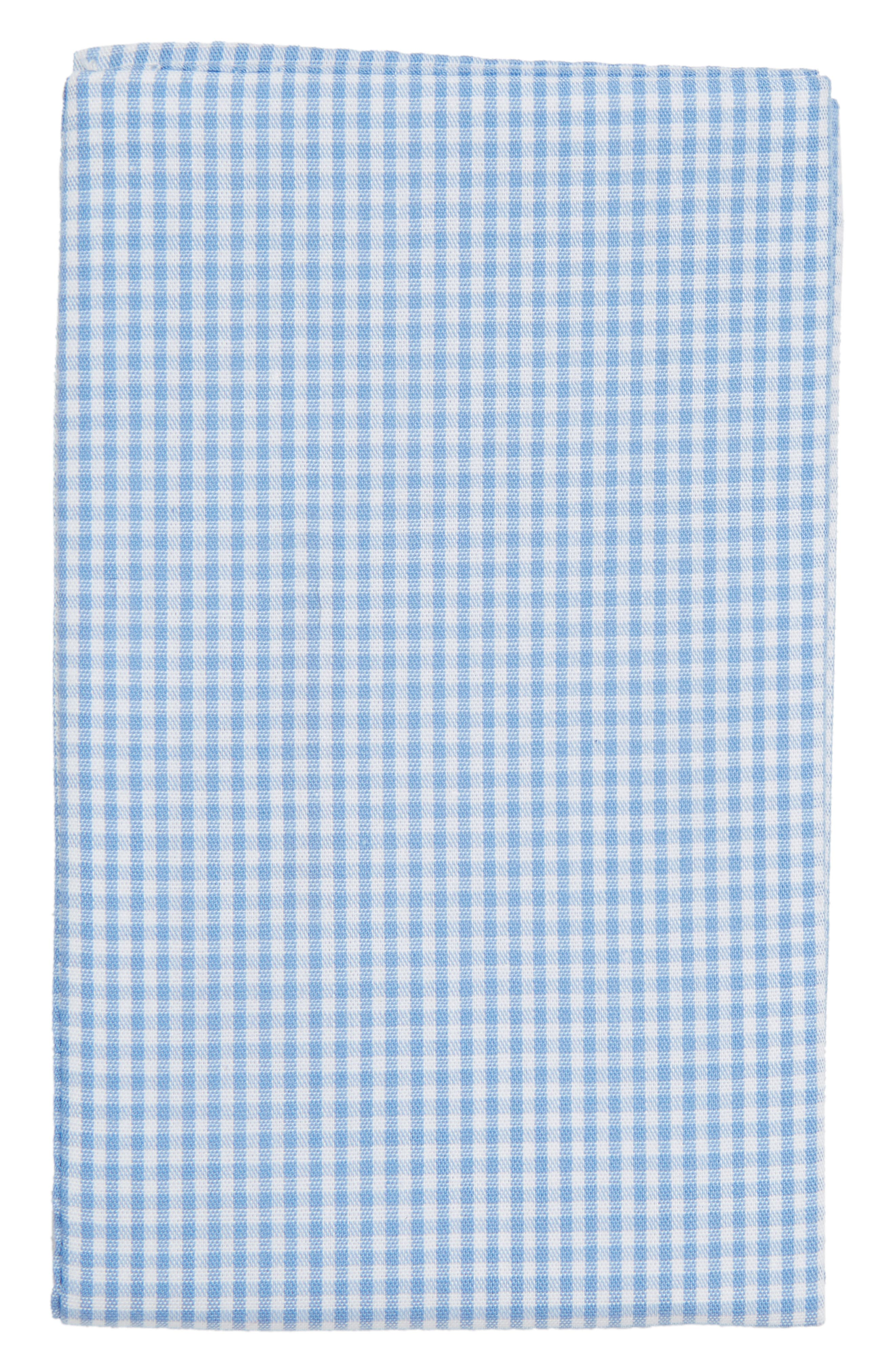 The Perfect Prefolded Gingham Pocket Square,                             Alternate thumbnail 2, color,                             BABY BLUE