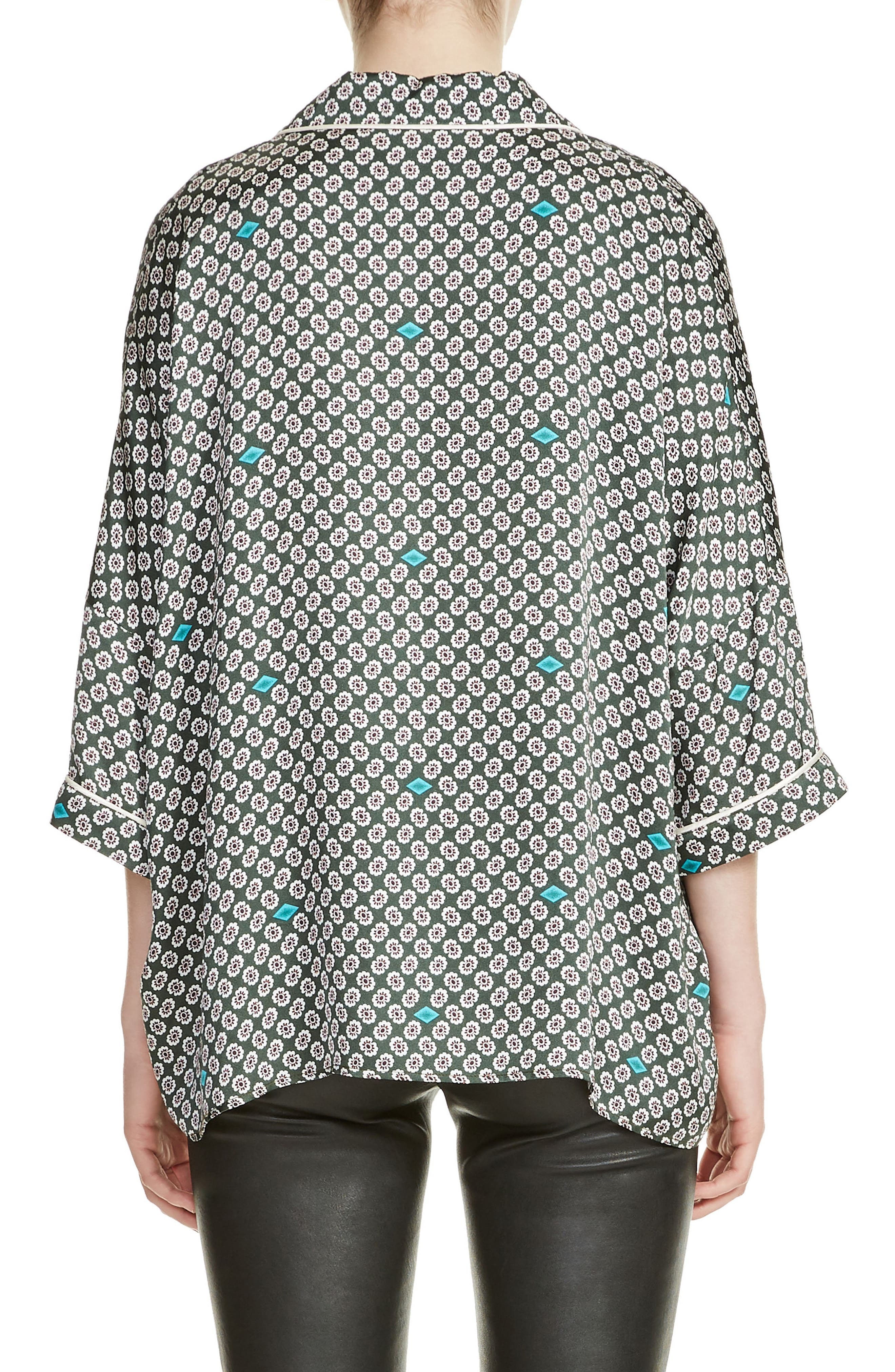 Charline Print High/Low Blouse,                             Alternate thumbnail 2, color,