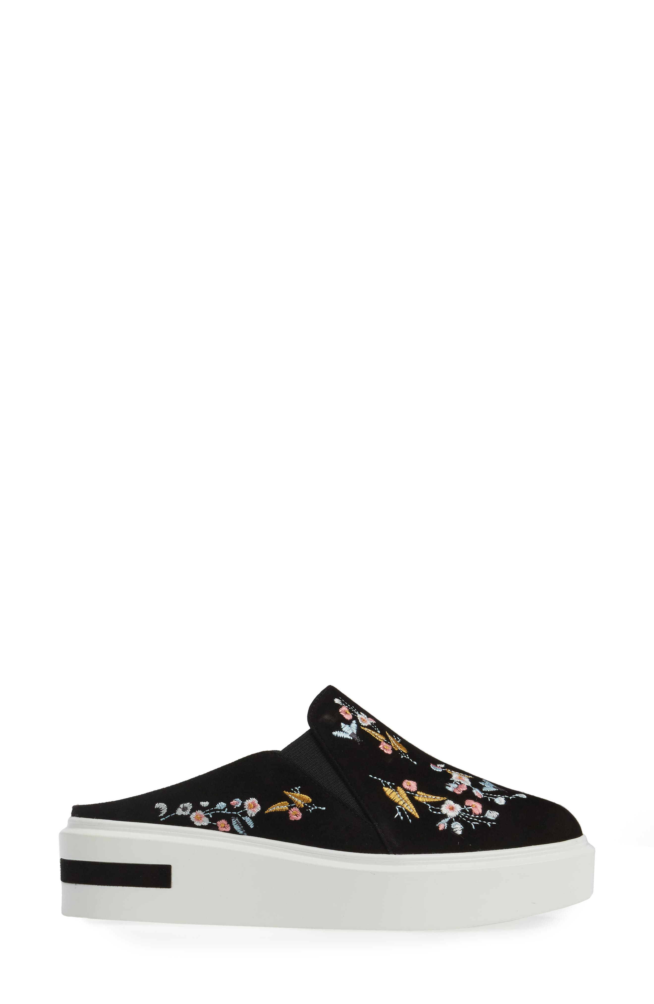 Fab II Embroidered Platform Sneaker,                             Alternate thumbnail 3, color,