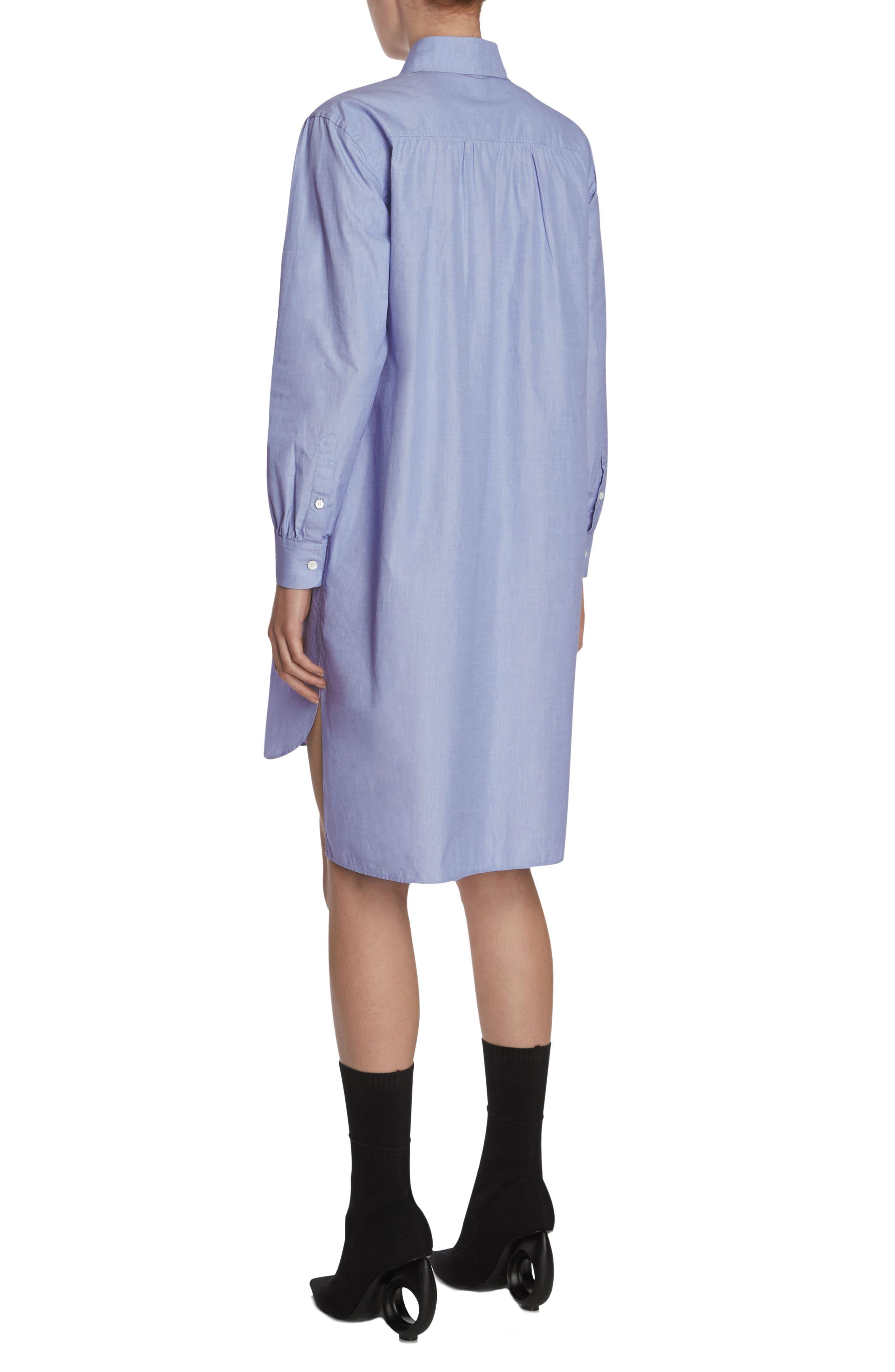 Pintuck Cotton Shirtdress,                             Alternate thumbnail 6, color,