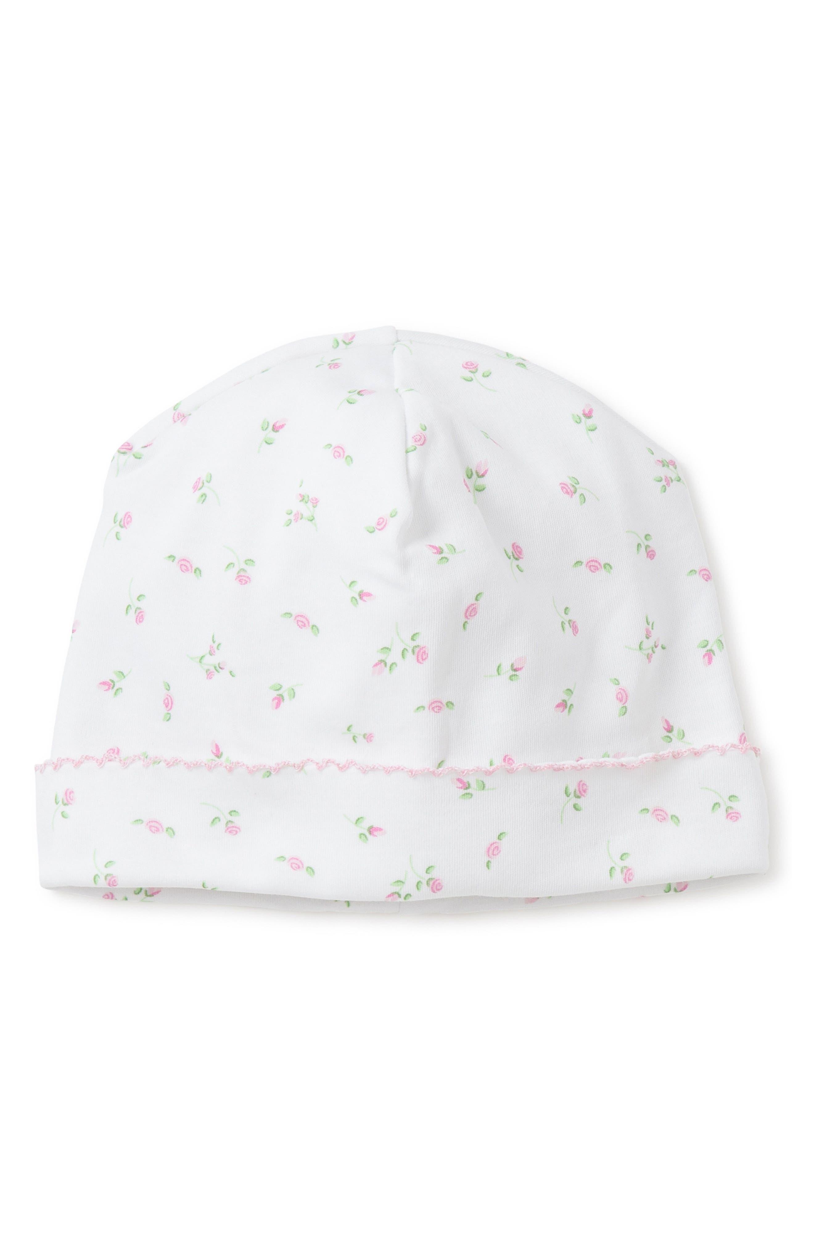 Garden Print Beanie Hat,                         Main,                         color, WHITE