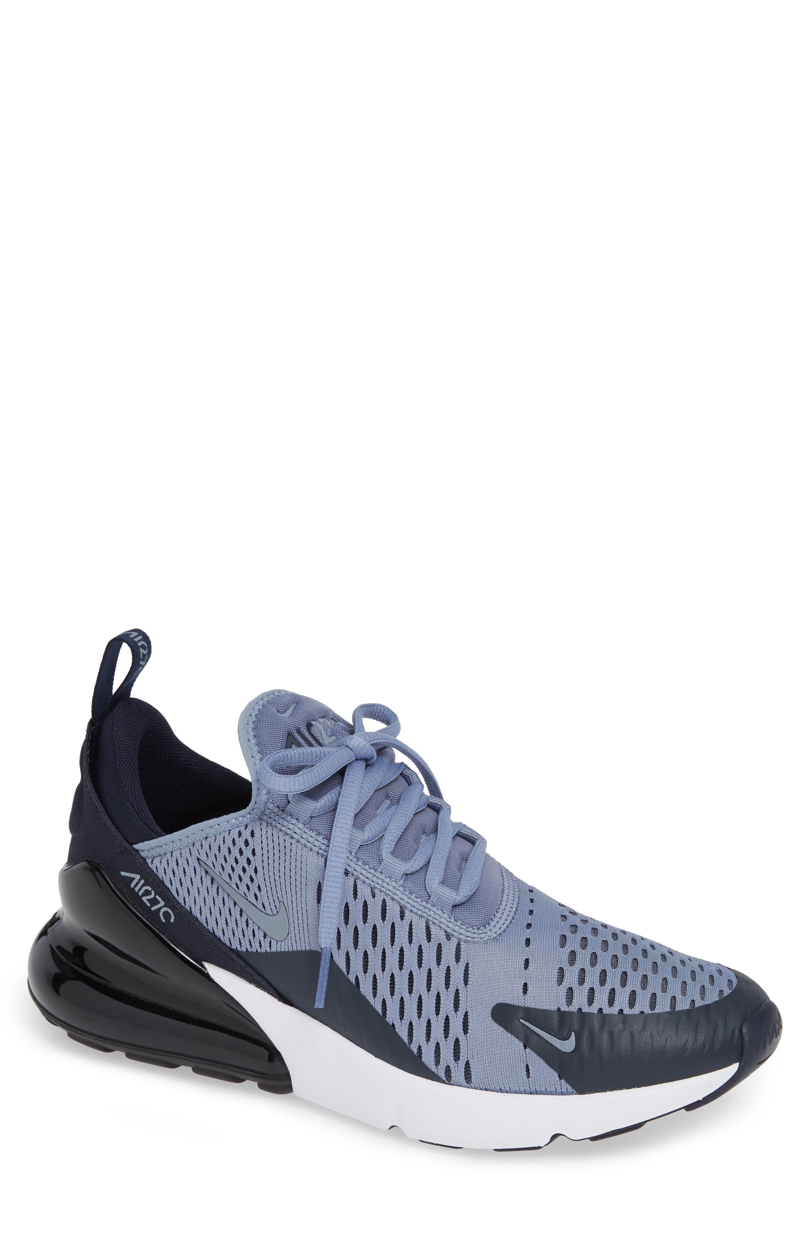 Air Max 270 Sneaker,                             Main thumbnail 1, color,                             ASHEN SLATE/ BLACK