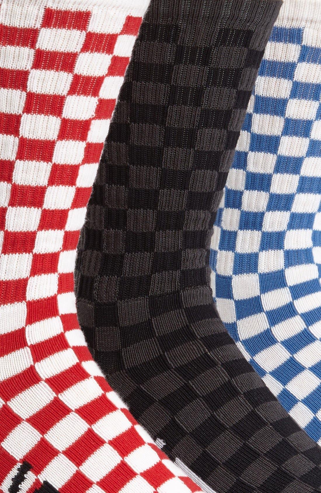 Checkerboard Socks,                             Alternate thumbnail 2, color,                             001