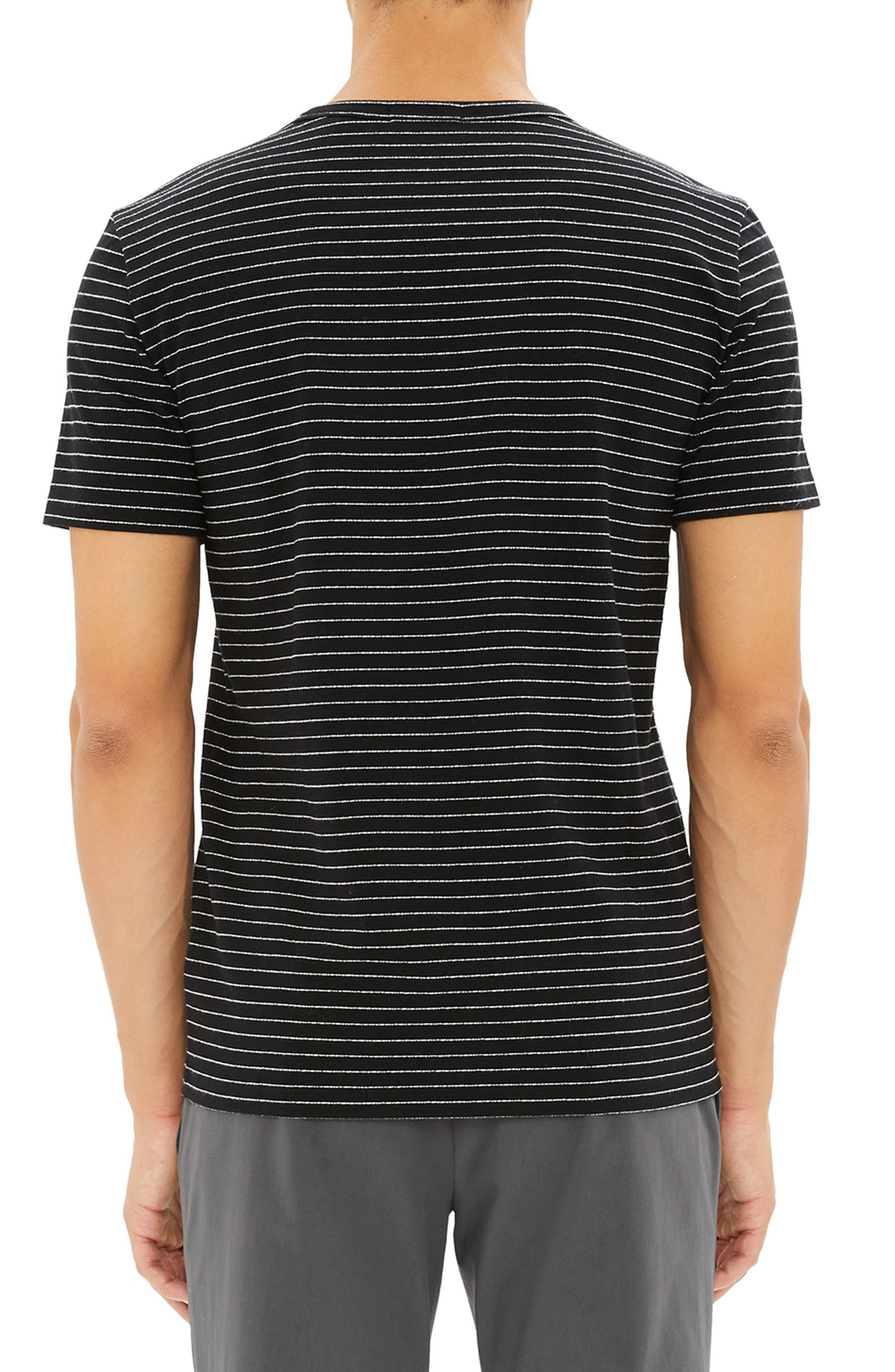 THEORY,                             Essential Striped T-Shirt,                             Alternate thumbnail 2, color,                             009