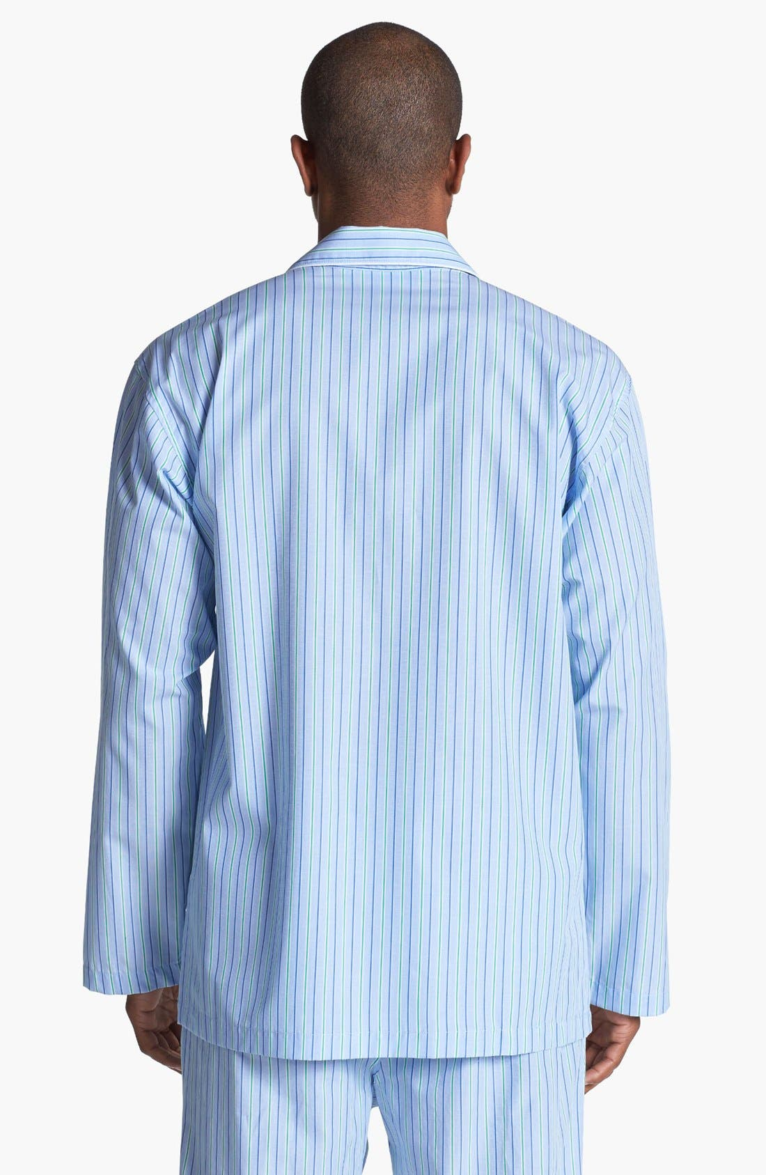 Cotton Pajama Top,                             Alternate thumbnail 6, color,                             BARI STRIPE