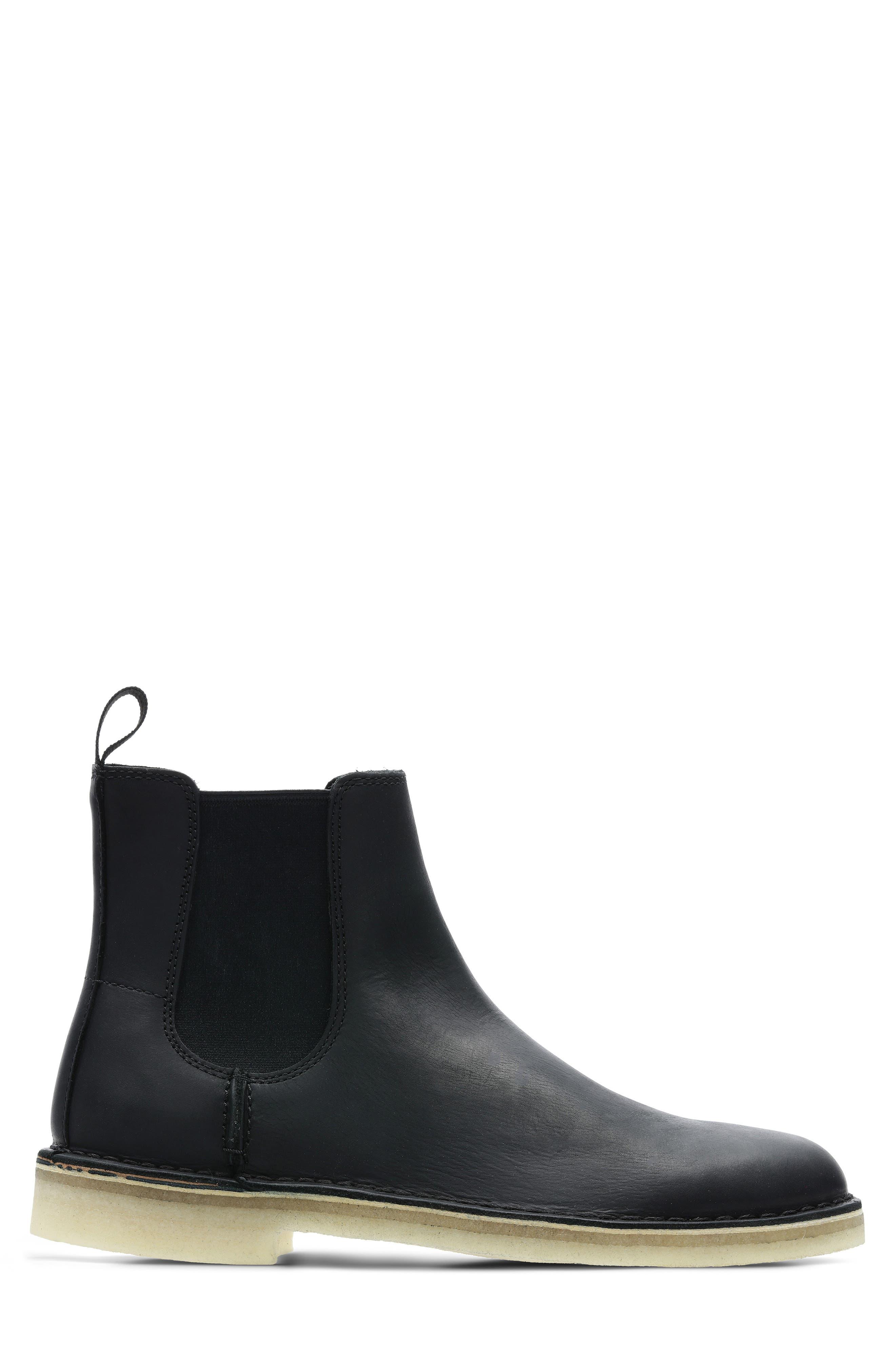 Desert Peak Chelsea Boot,                             Alternate thumbnail 2, color,                             BLACK/BLACK LEATHER