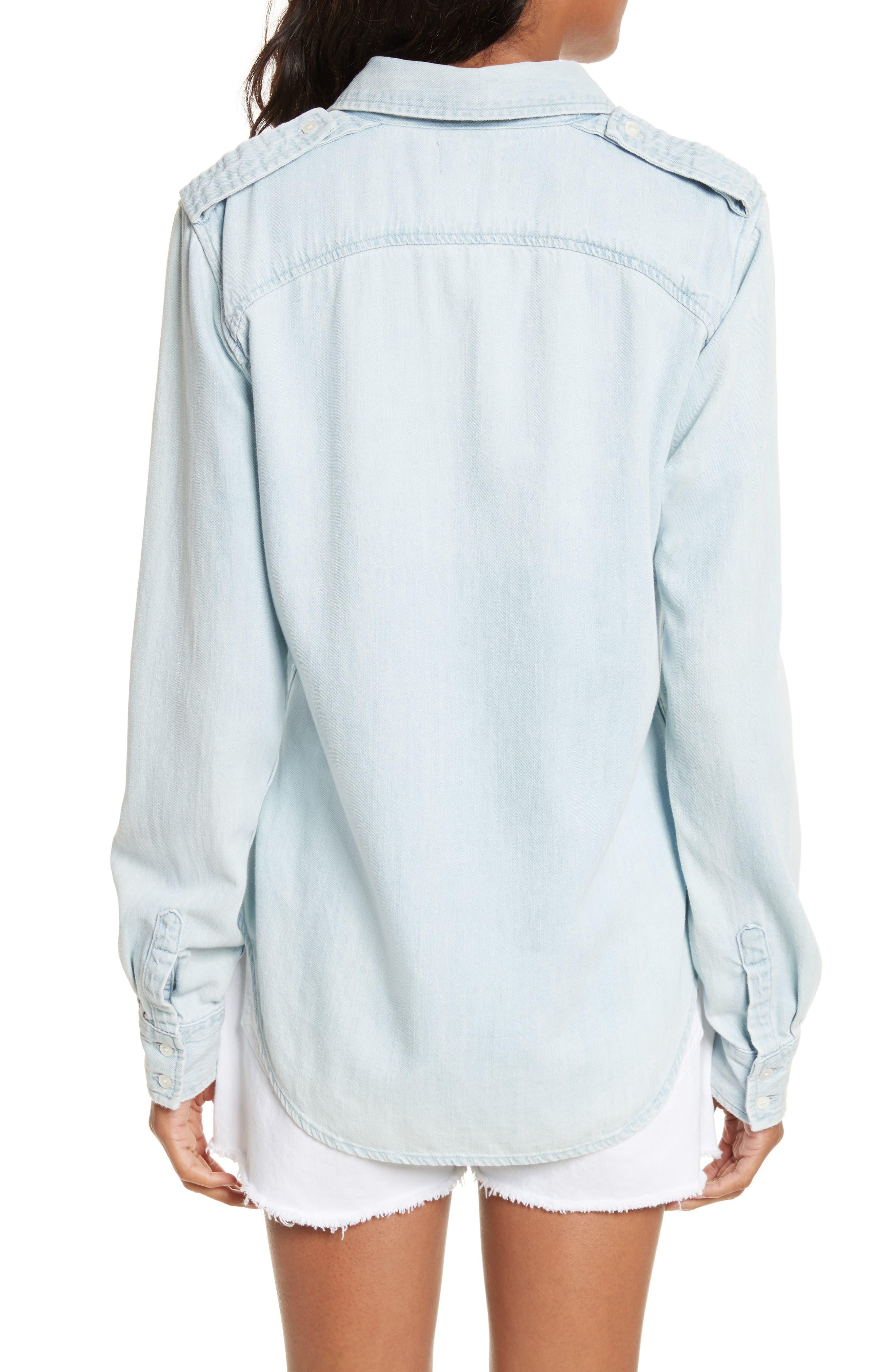 Denim Military Shirt,                             Alternate thumbnail 2, color,                             400
