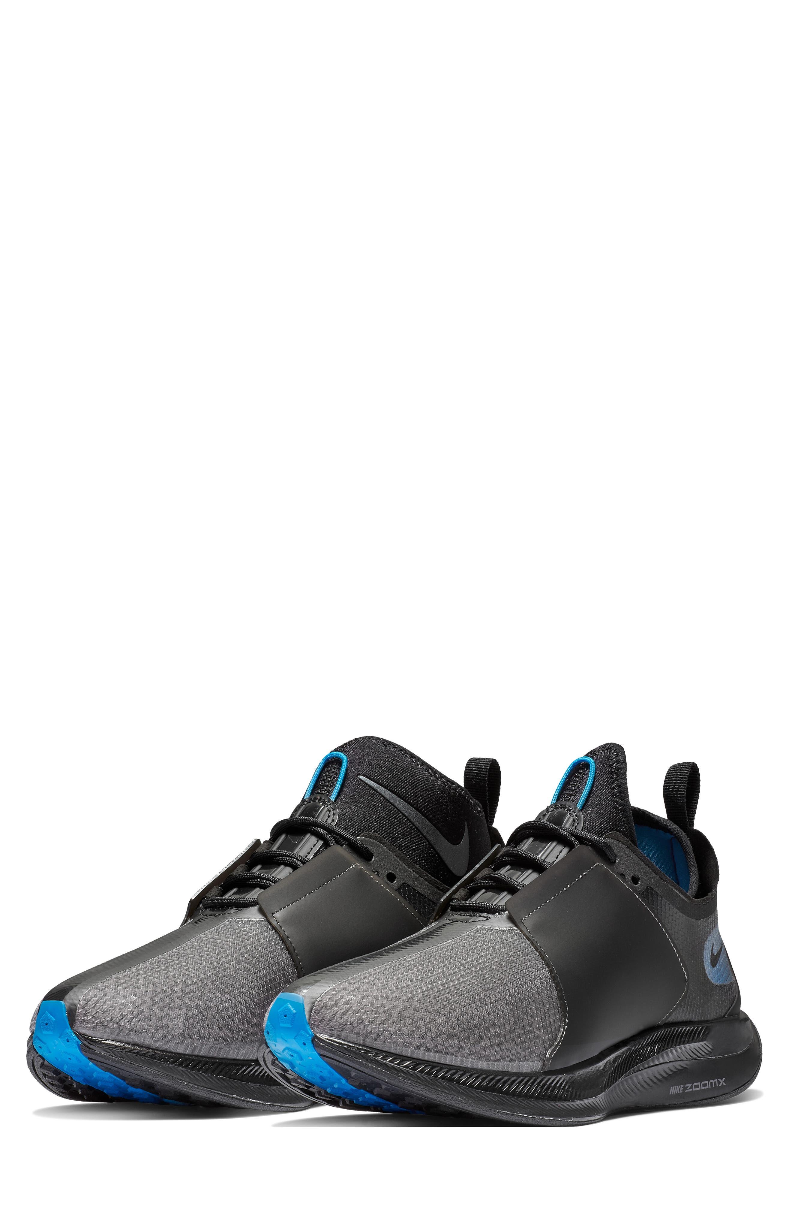 Zoom Pegasus Turbo XX Running Shoe,                             Main thumbnail 1, color,                             BLACK/ BLACK/ COBALT BLAZE