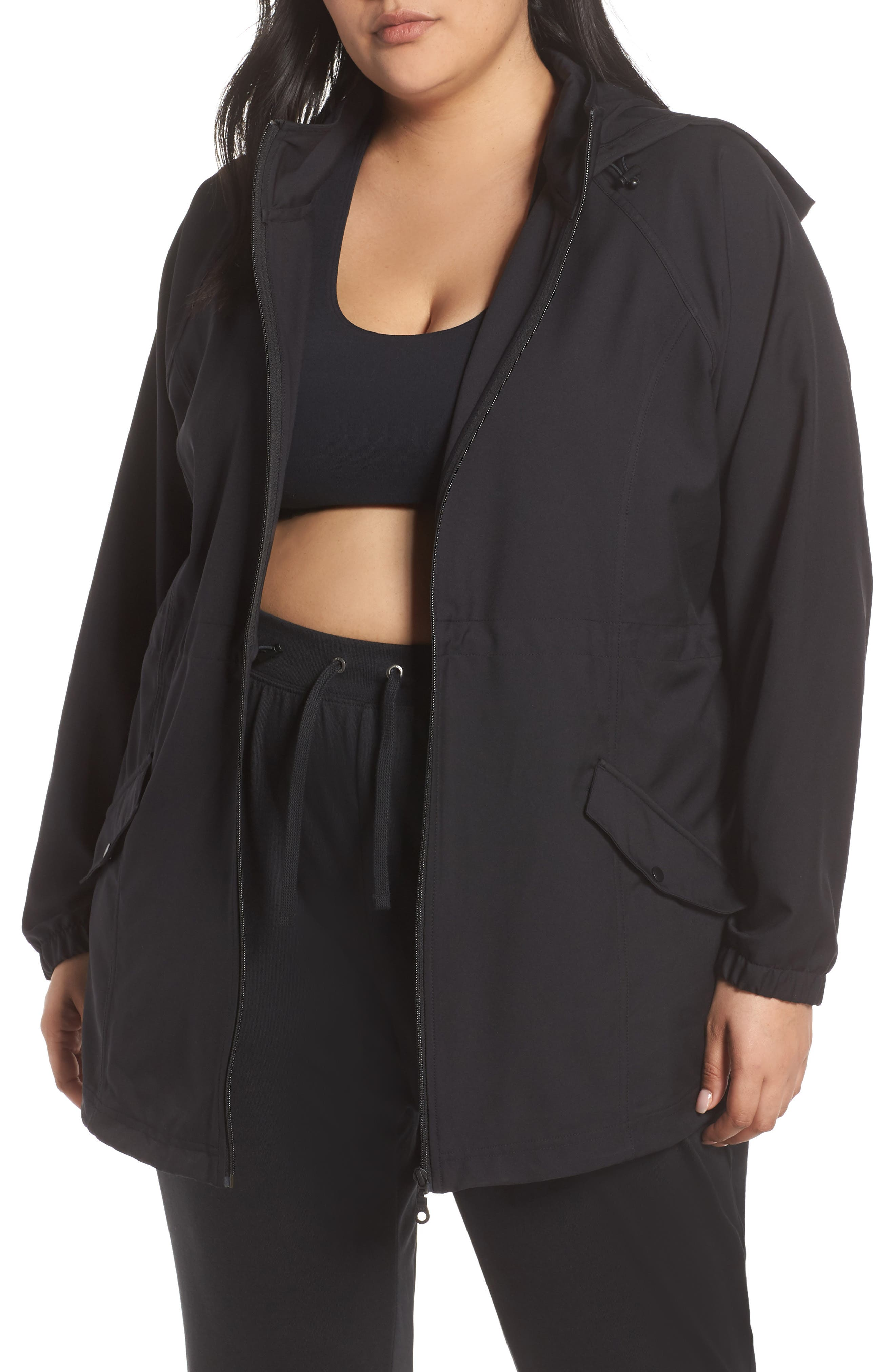 Plus Size Zella Step Out Hooded Jacket