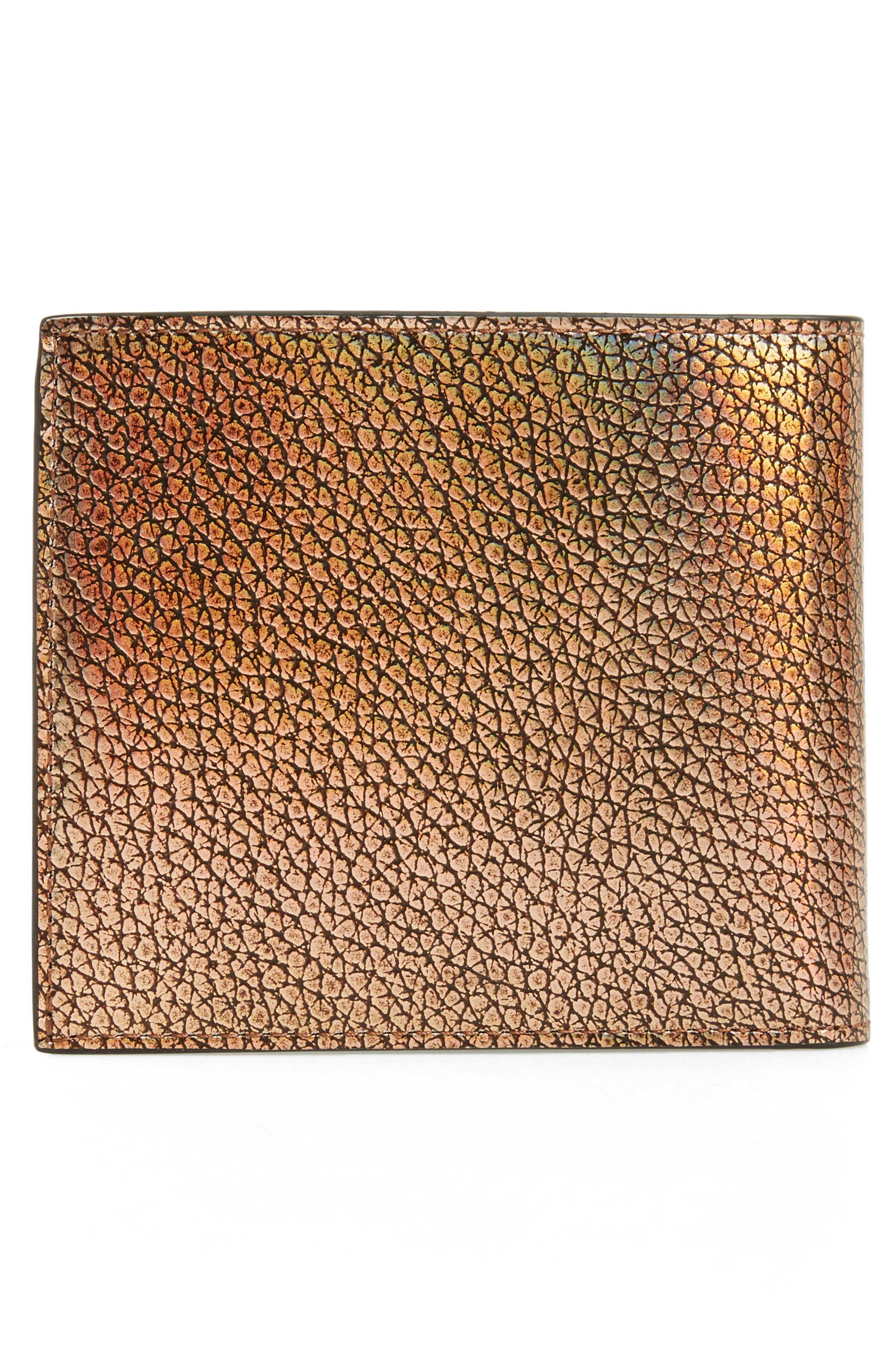 Metallic Leather Wallet,                             Alternate thumbnail 3, color,                             710