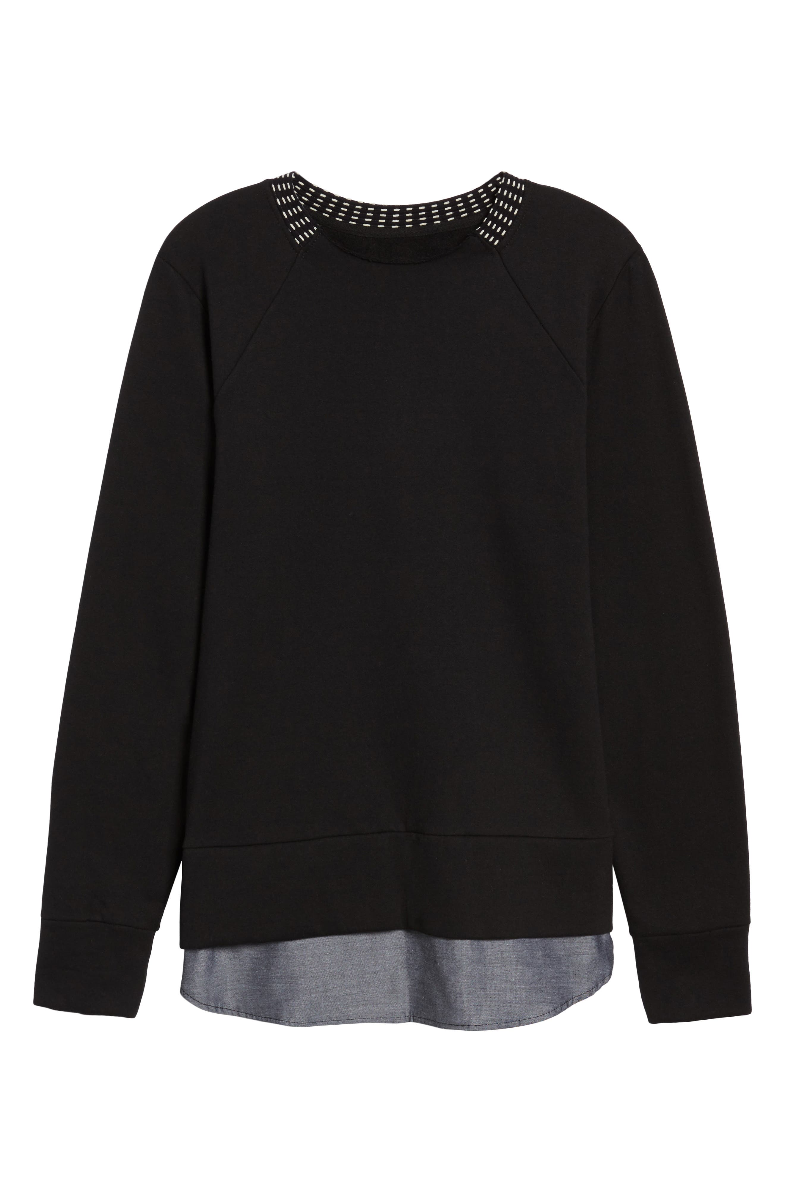 Double Layer Pullover,                             Alternate thumbnail 6, color,                             001