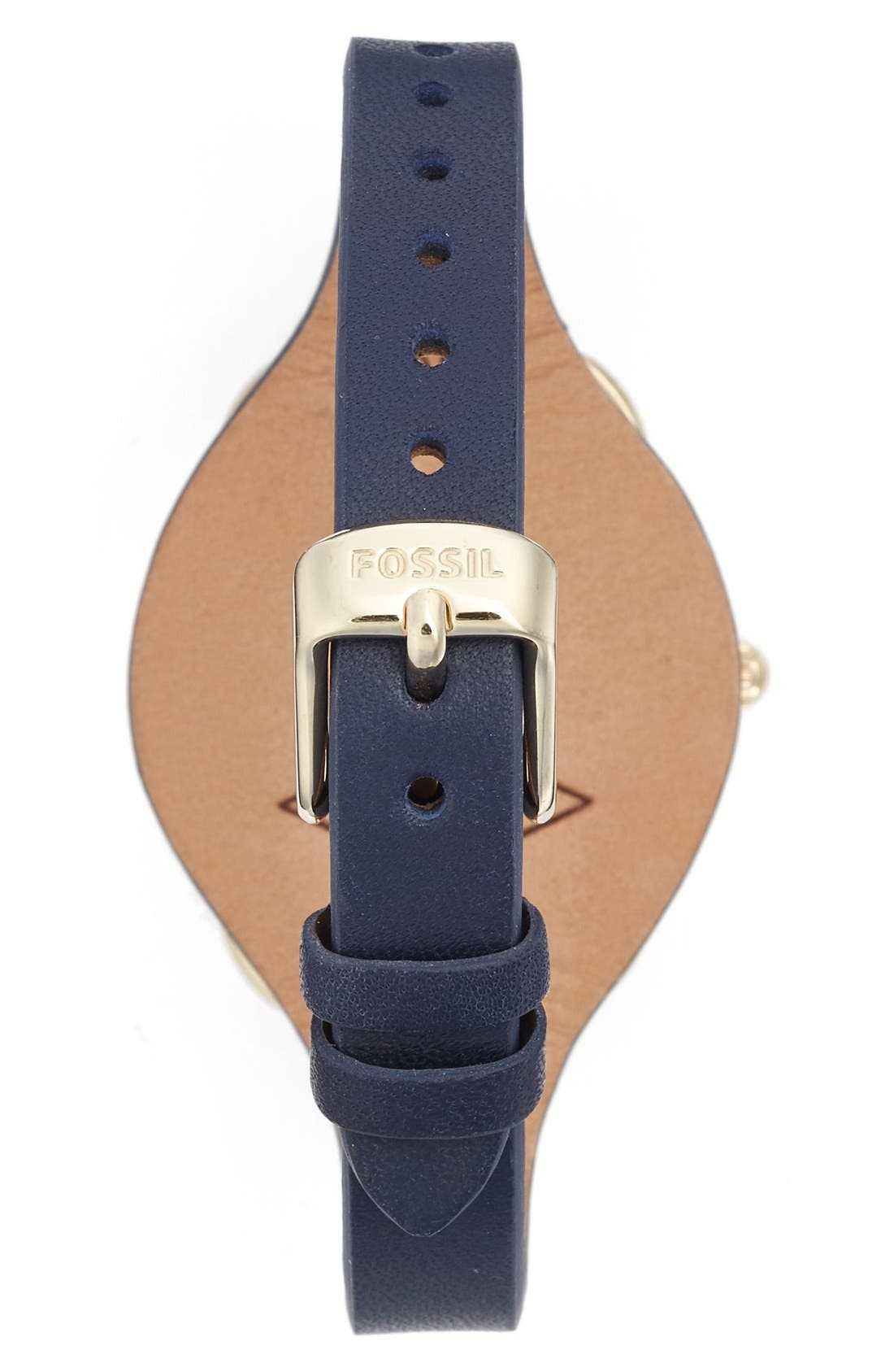 'Tailor' Multifunction Leather Strap Watch, 35mm,                             Alternate thumbnail 6, color,