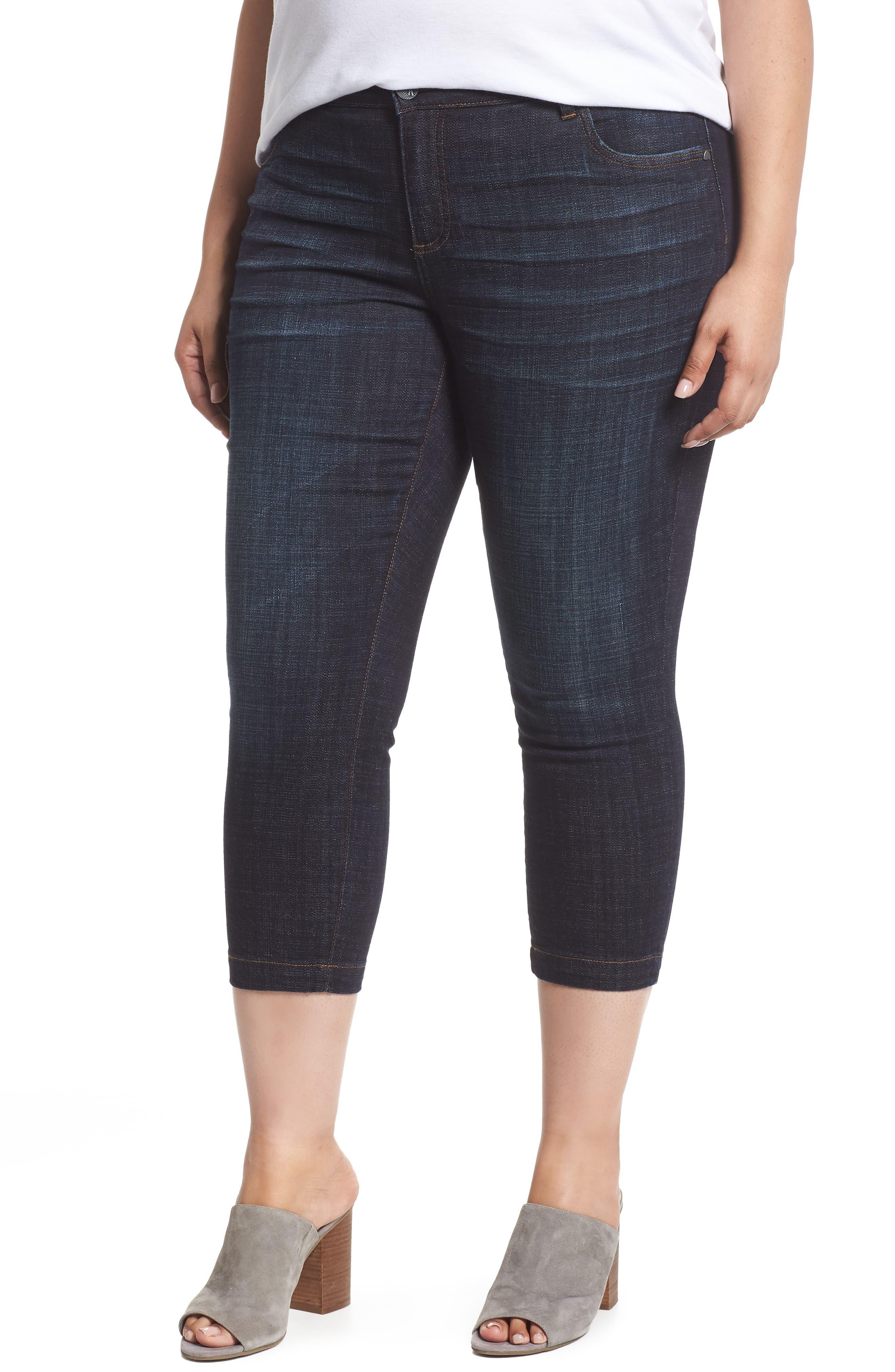 Plus Size Kut From The Kloth Lauren Crop Jeans, Blue