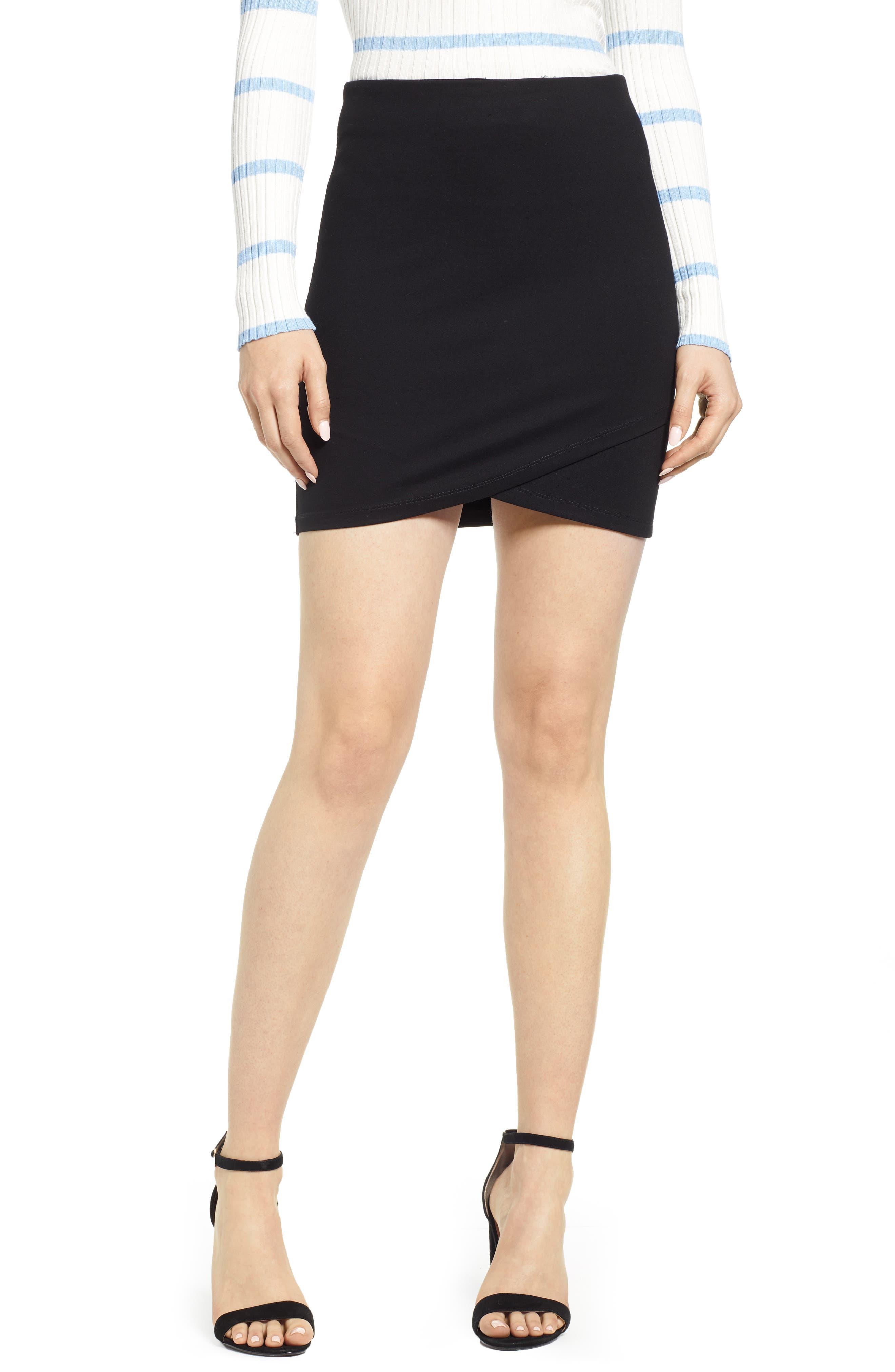 Bishop + Young Cross Front Miniskirt, Black