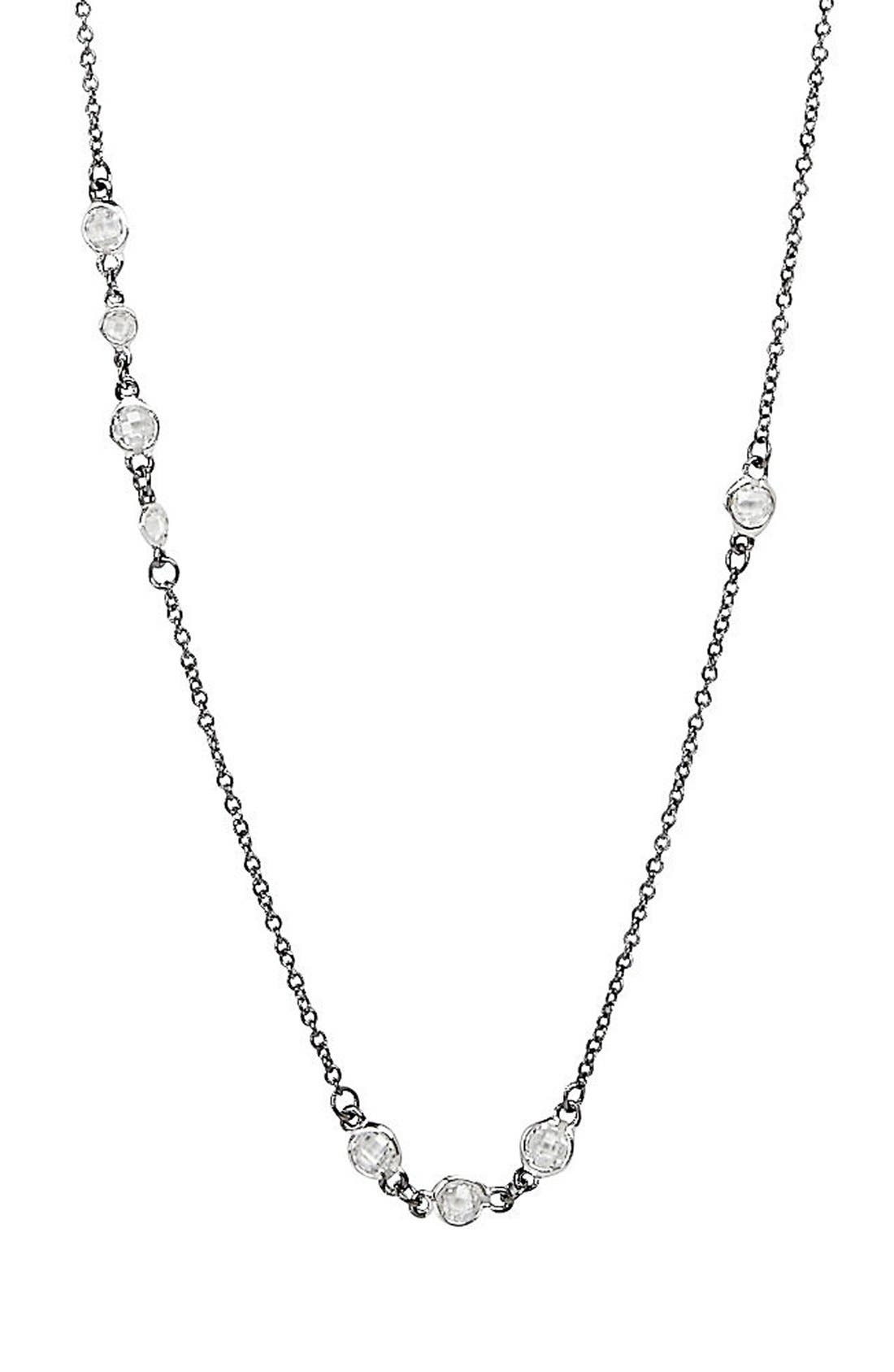 'The Standards' Long Station Necklace,                             Alternate thumbnail 2, color,                             SILVER/ BLACK