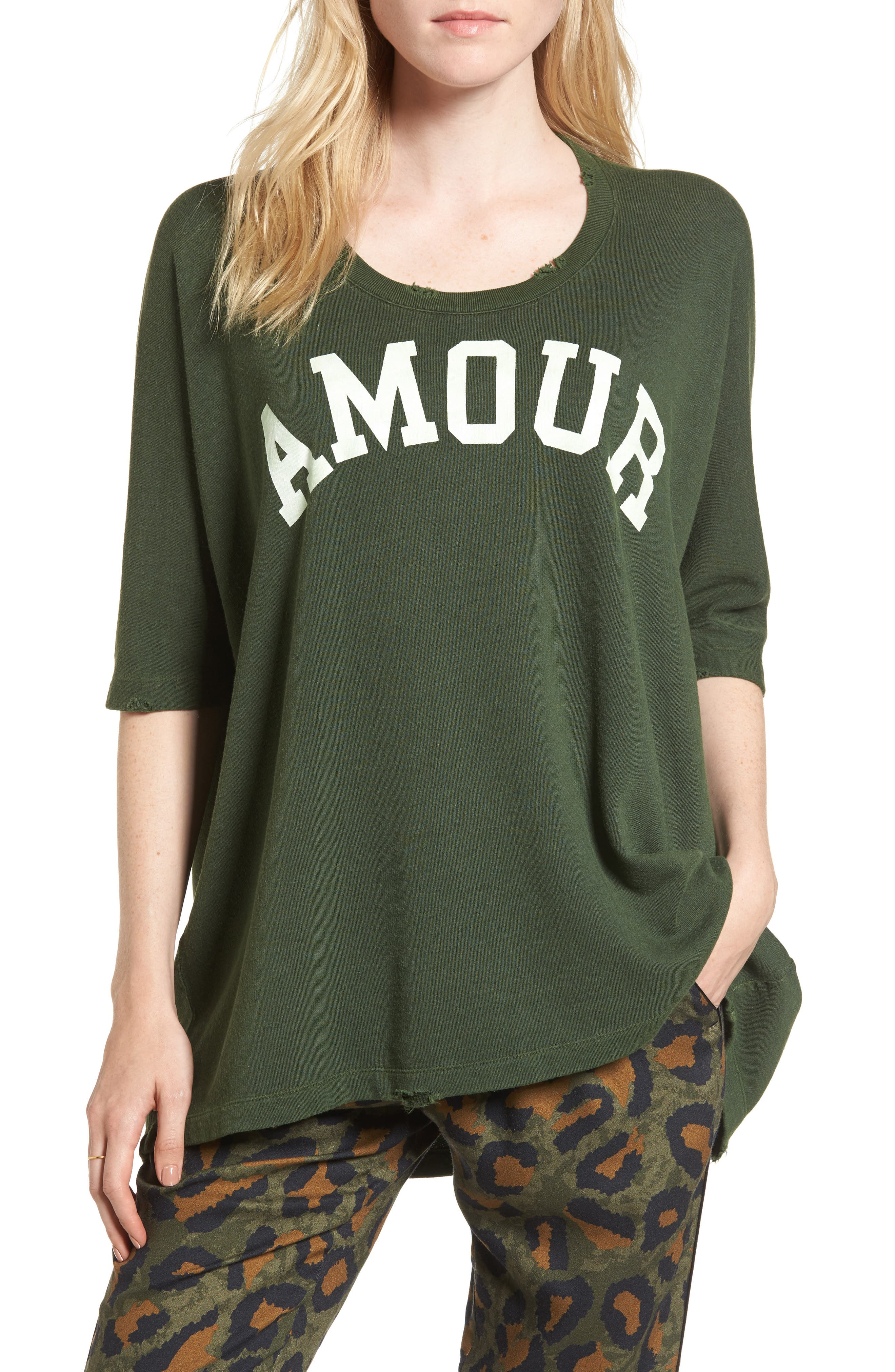 Amour Overdye Tee,                         Main,                         color, 354