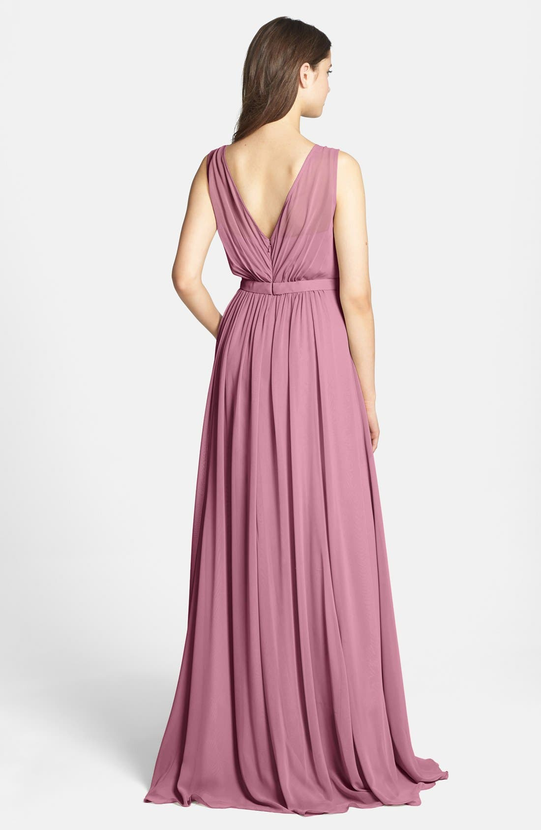 Vivienne Pleated Chiffon Gown,                             Alternate thumbnail 27, color,