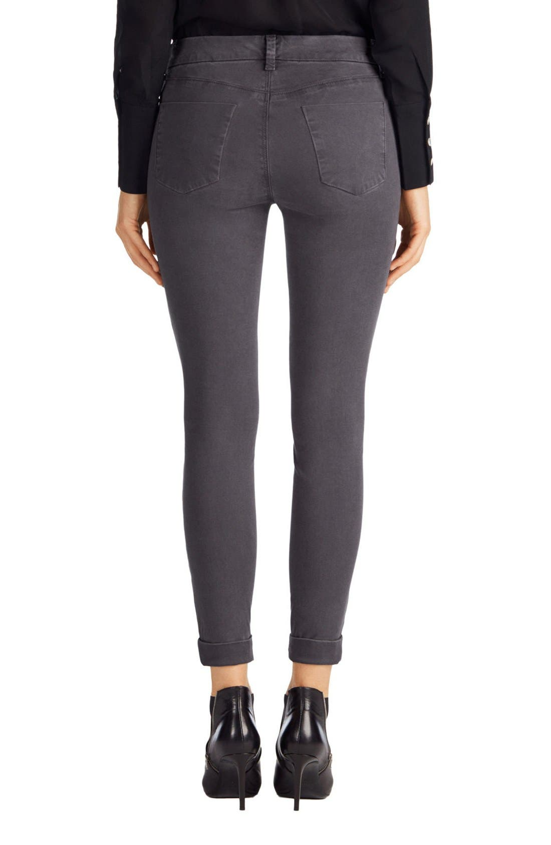 'Anja' Cuffed Crop Skinny Jeans,                             Alternate thumbnail 24, color,