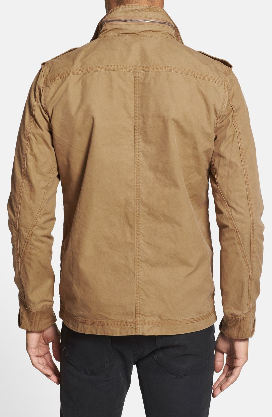 'Paxton' Military Jacket with Stowaway Hood,                             Alternate thumbnail 7, color,