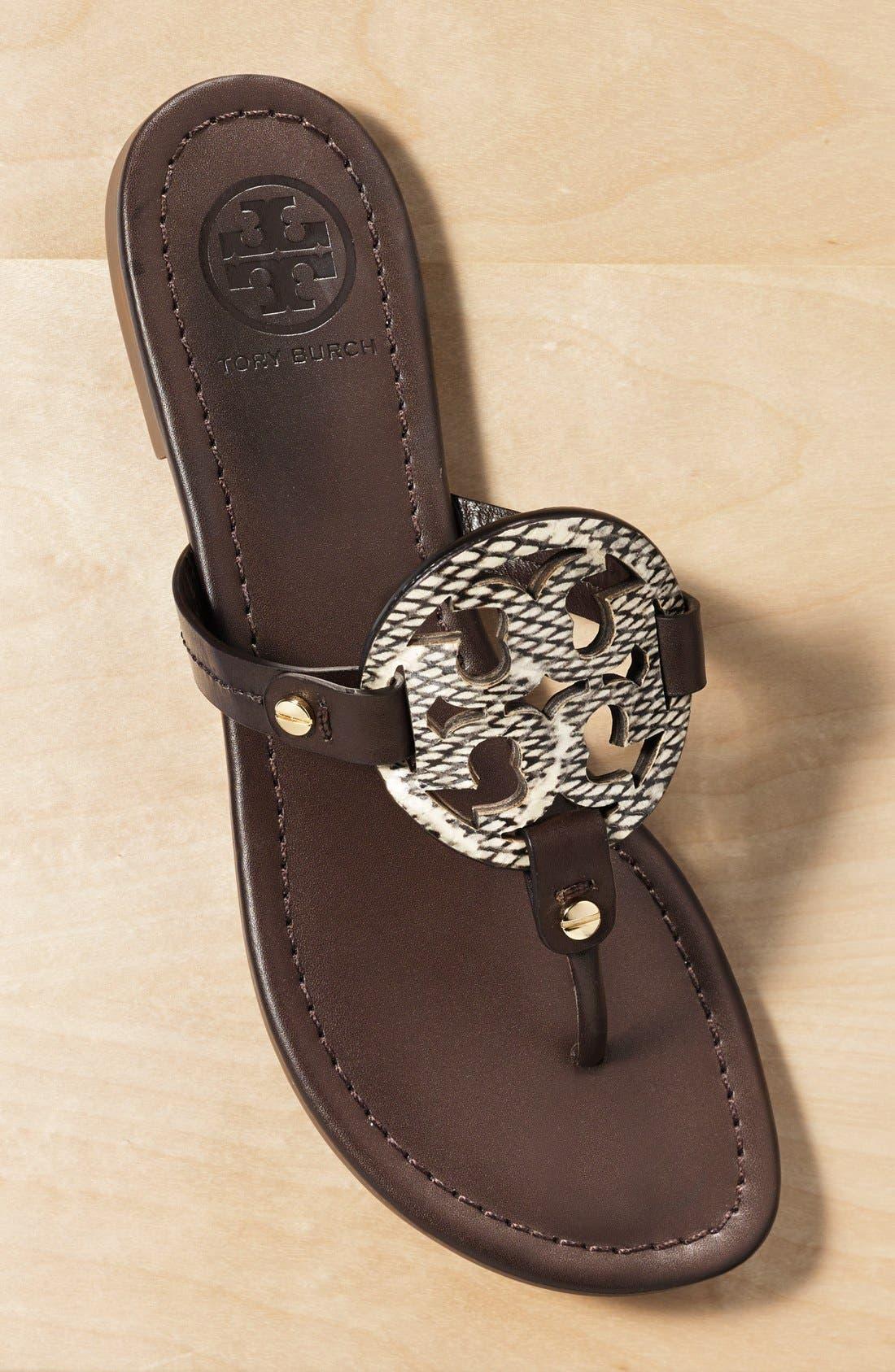 'Miller' Leather Thong Sandal,                             Main thumbnail 1, color,                             012