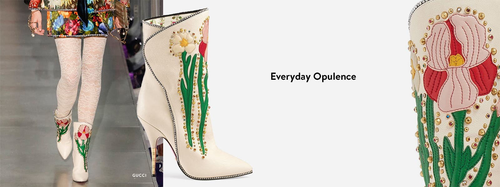 Everyday opulence: embellished designer shoes by Gucci and more.