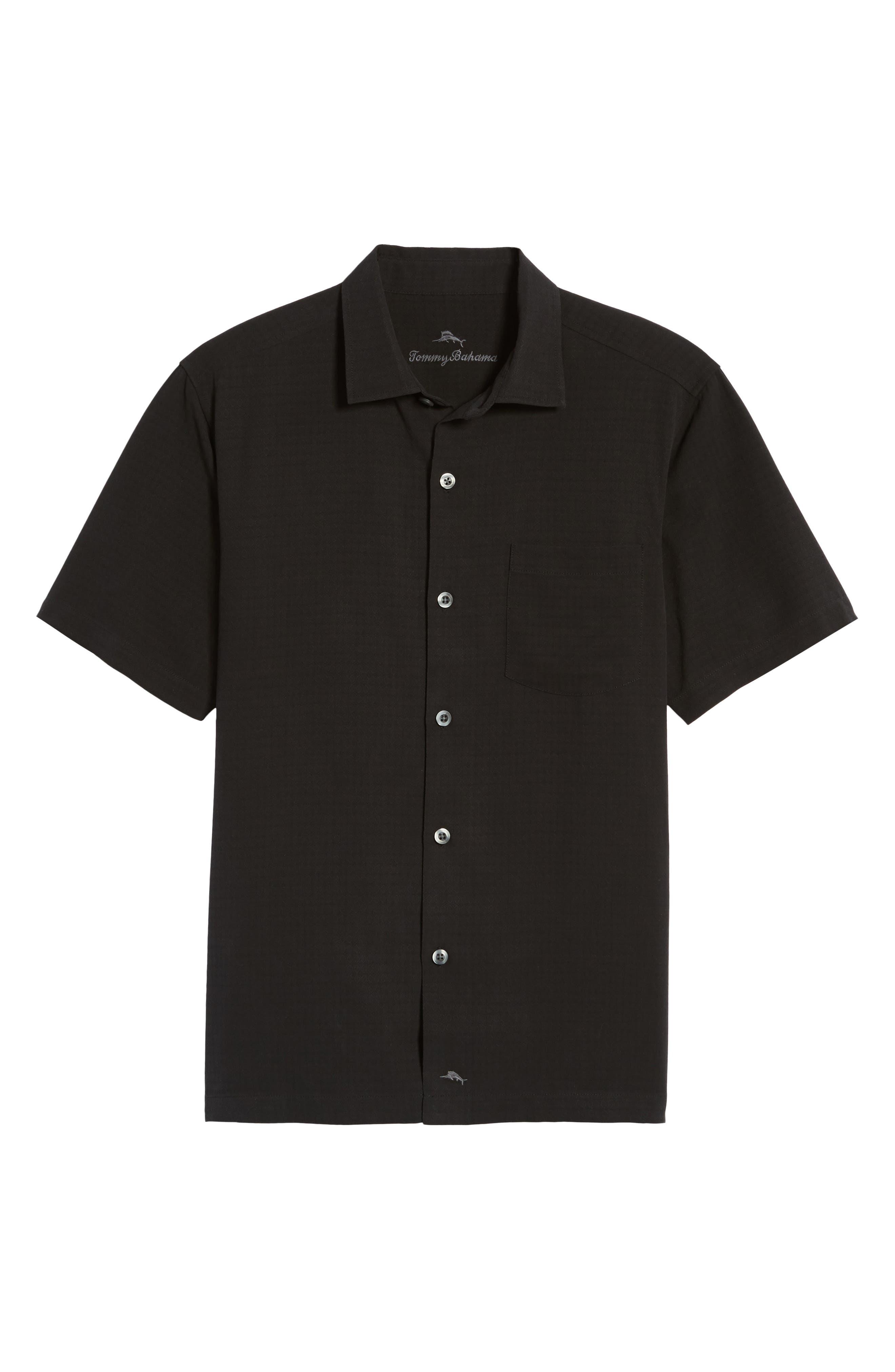 Oasis Jacquard Silk Sport Shirt,                             Alternate thumbnail 6, color,                             001