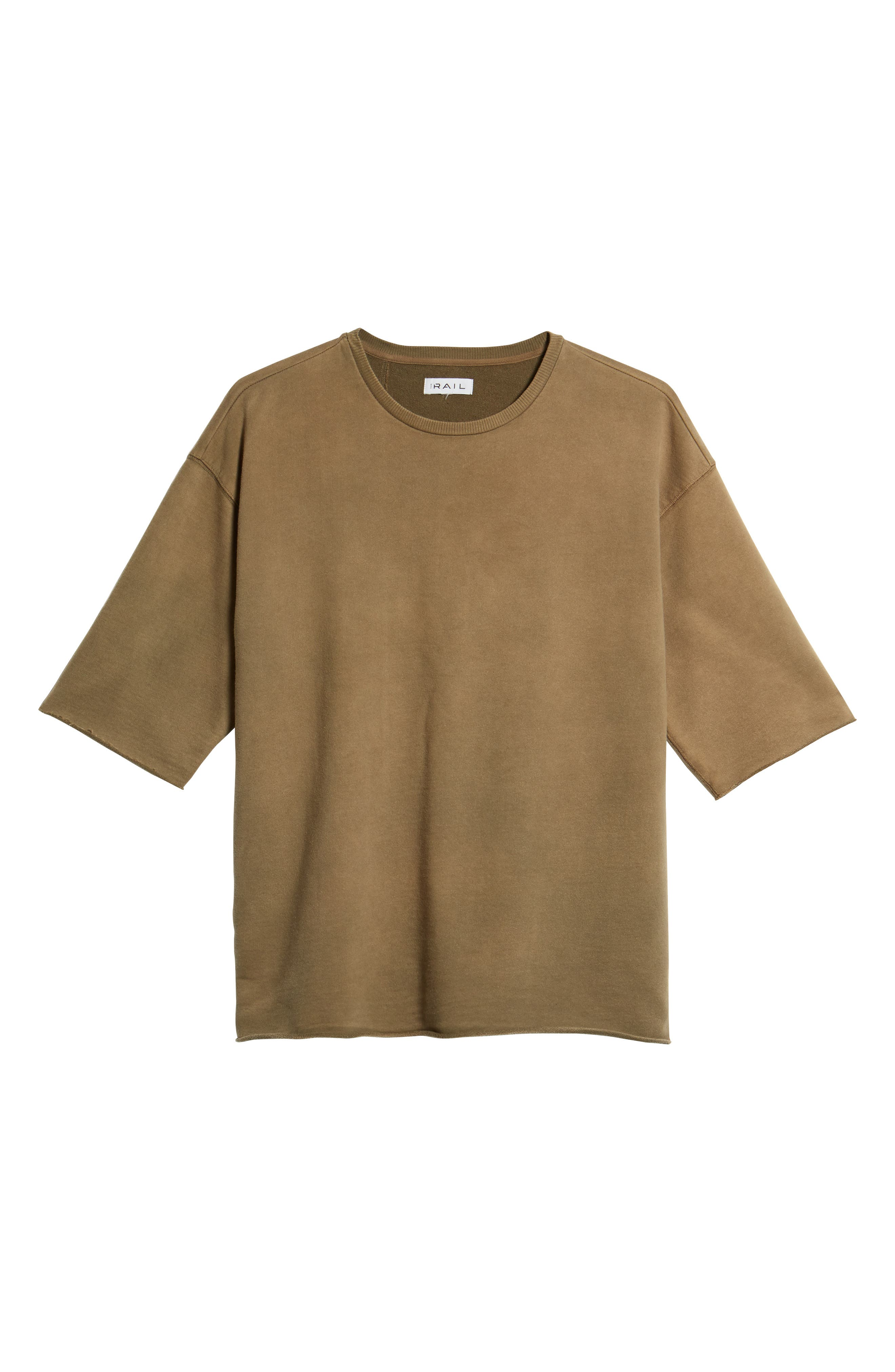 Washed Terry Pullover,                             Alternate thumbnail 6, color,                             OLIVE DUSK