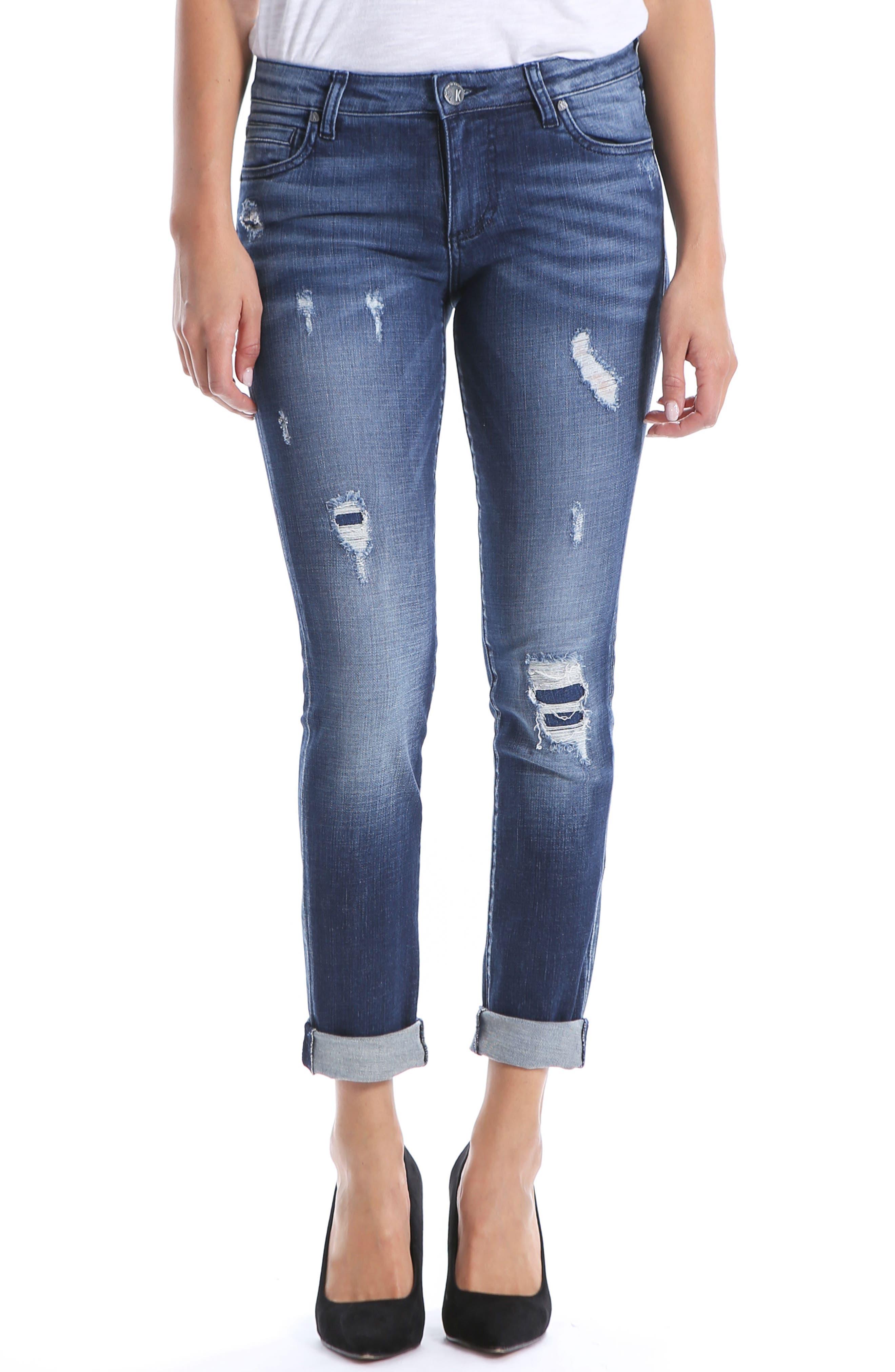 Kut From The Kloth Catherine Boyfriend Jeans, Blue