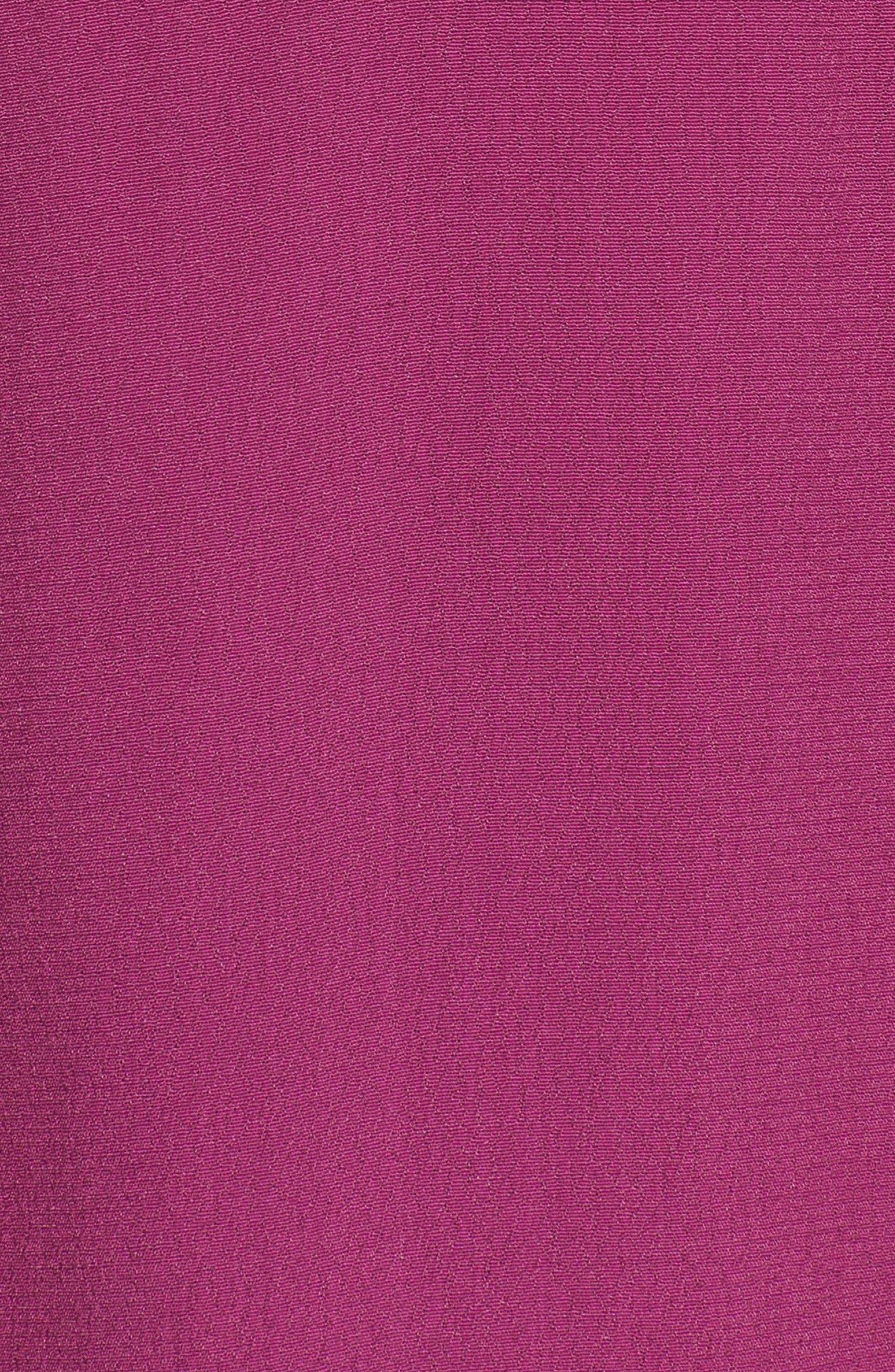 V-Neck Puff Sleeve Dress,                             Alternate thumbnail 6, color,                             510