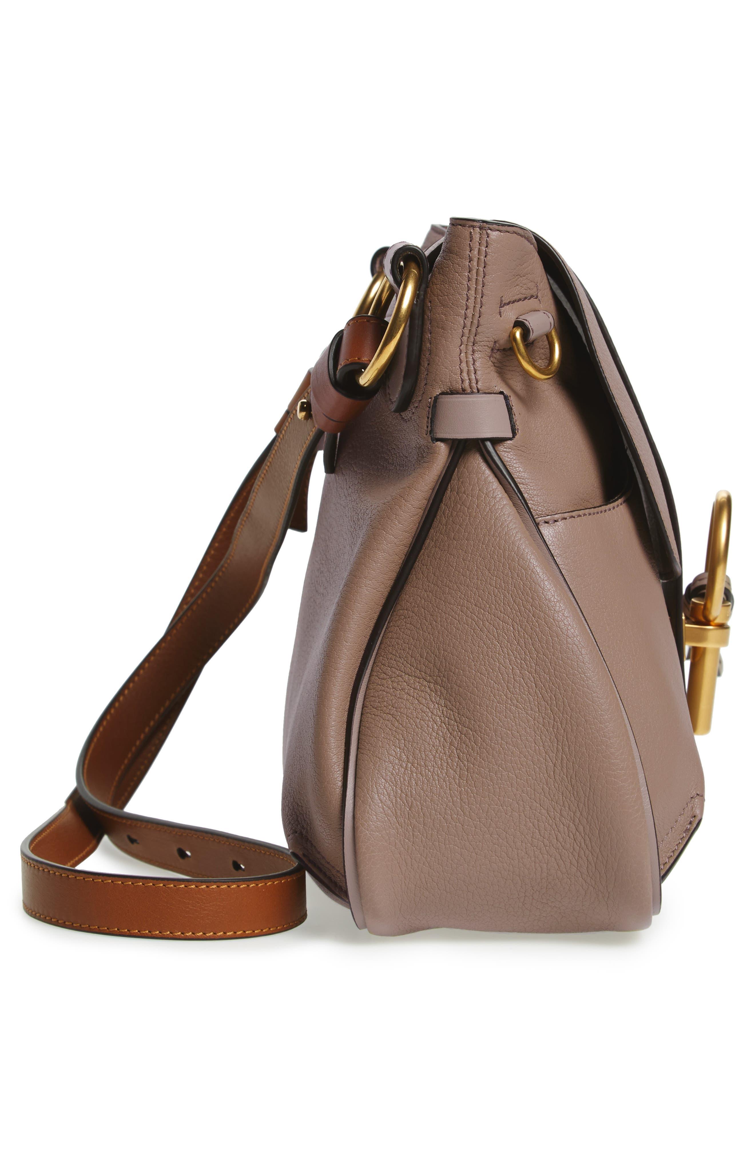 CHLOÉ,                             Small Lexa Leather Shoulder Bag,                             Alternate thumbnail 5, color,                             031