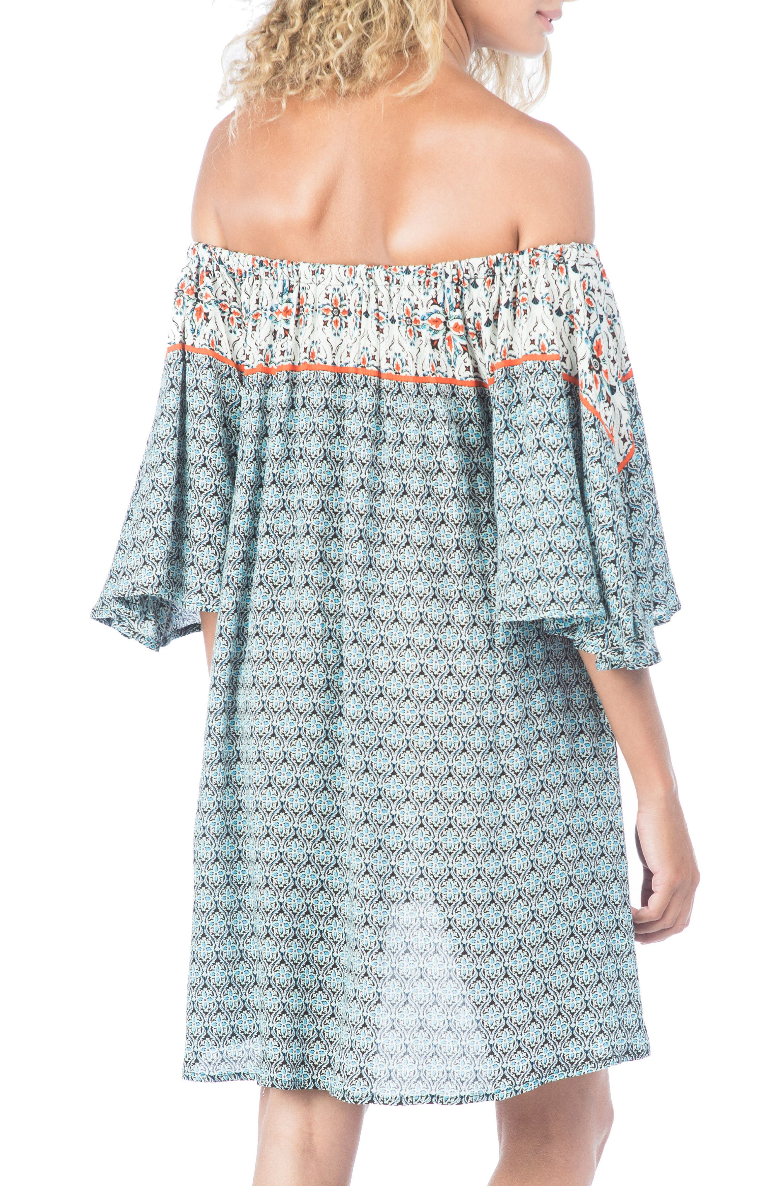 Monaco Tile Cover-Up Dress,                             Alternate thumbnail 2, color,                             002