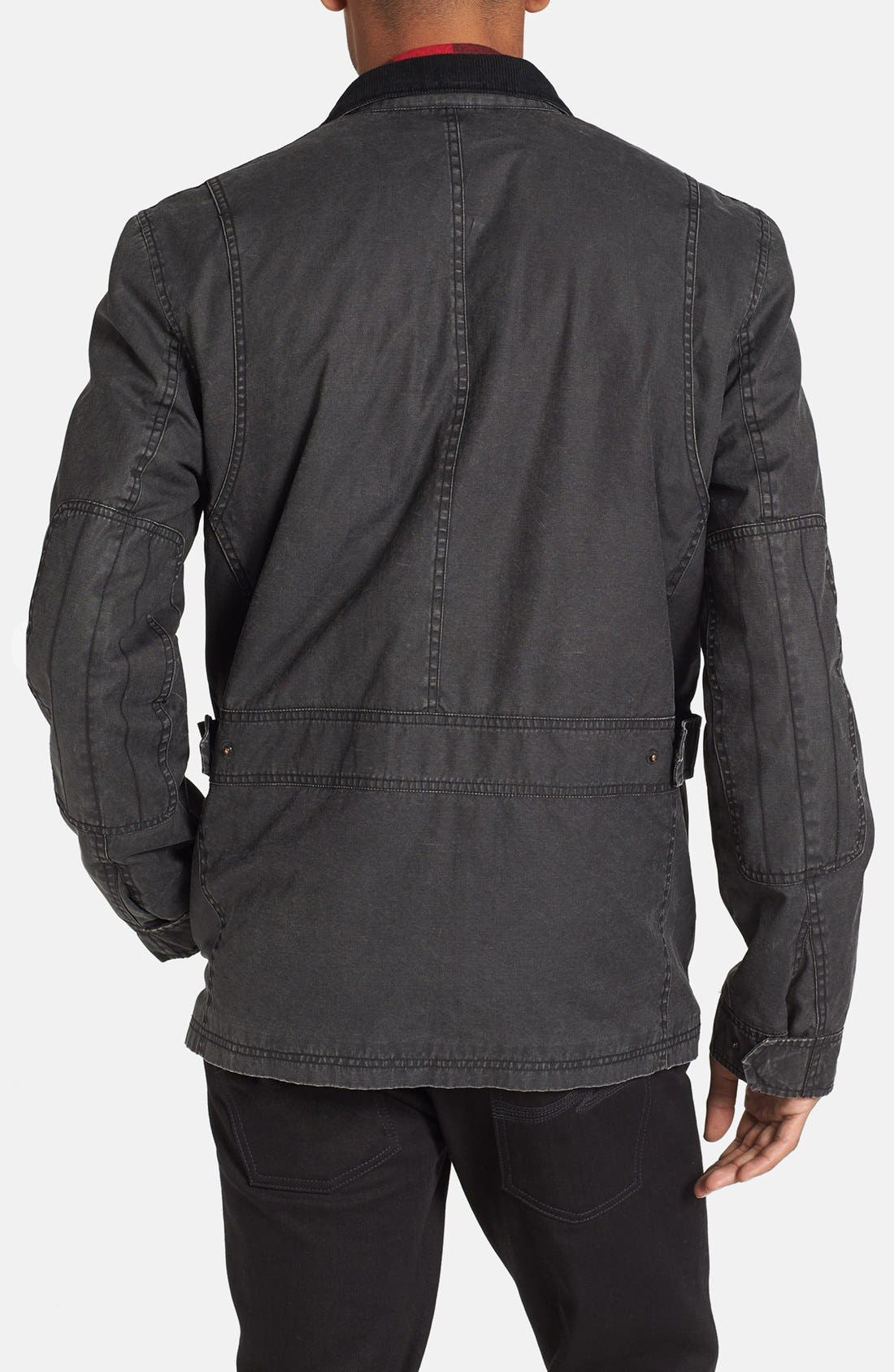 Coated Cotton Field Jacket,                             Alternate thumbnail 3, color,                             001
