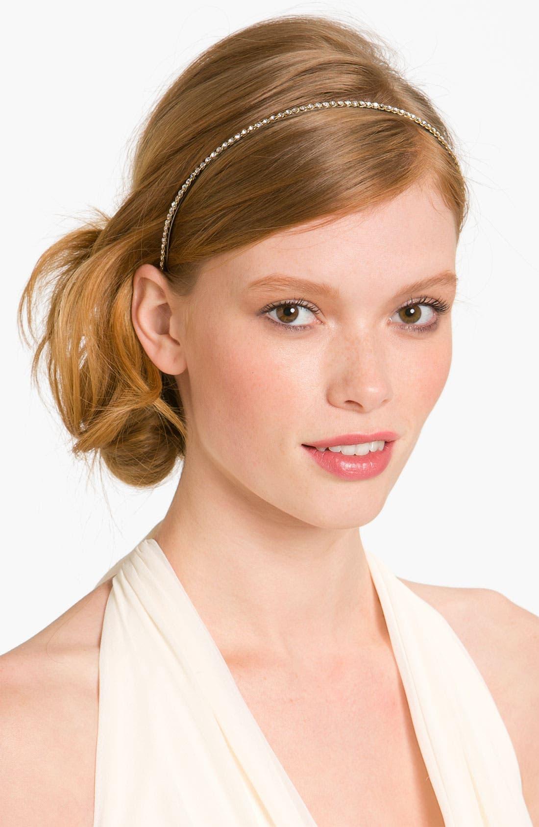 Skinny Crystal Headband,                             Main thumbnail 4, color,