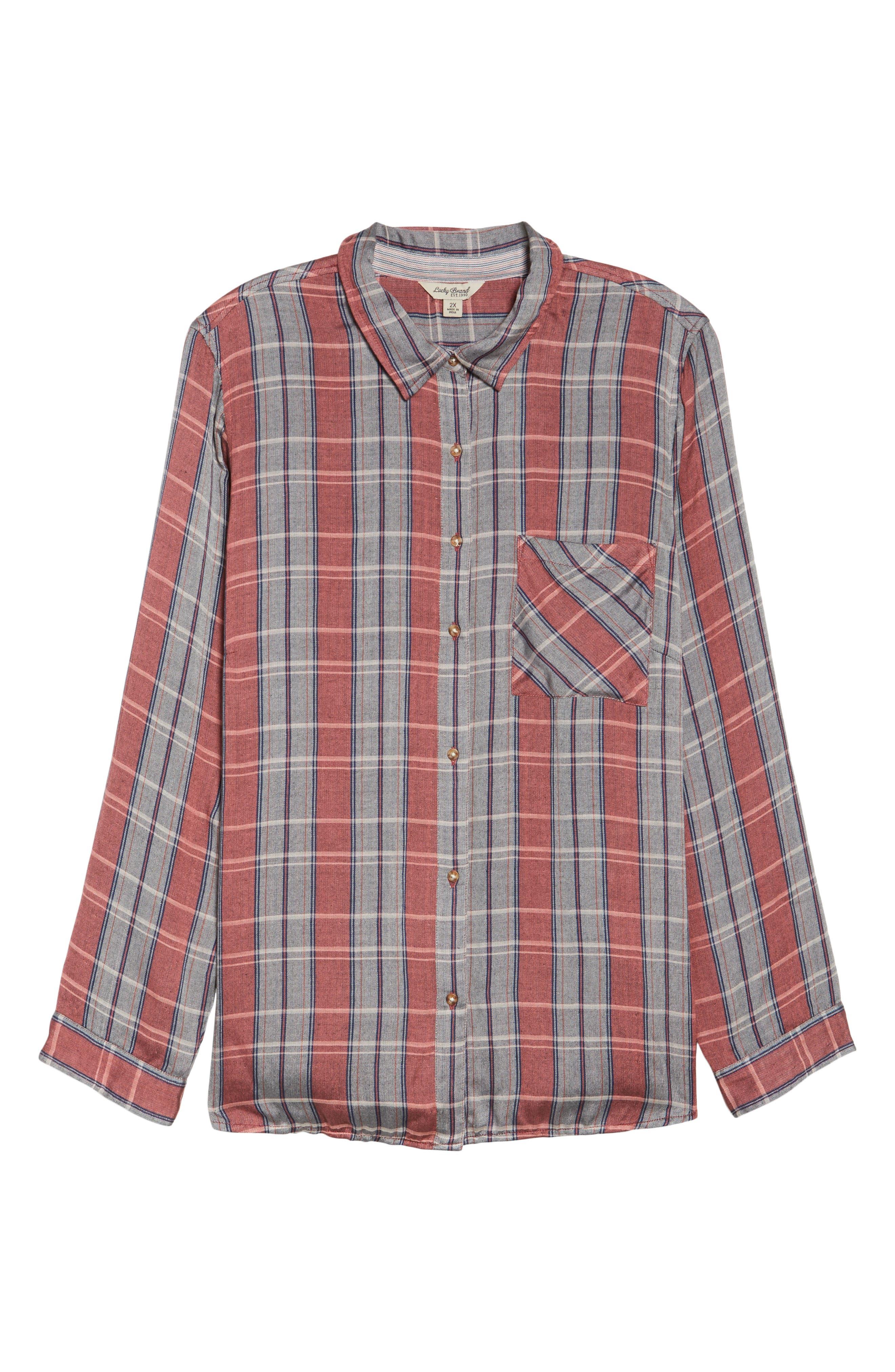 Plaid Pocket Shirt,                             Alternate thumbnail 6, color,