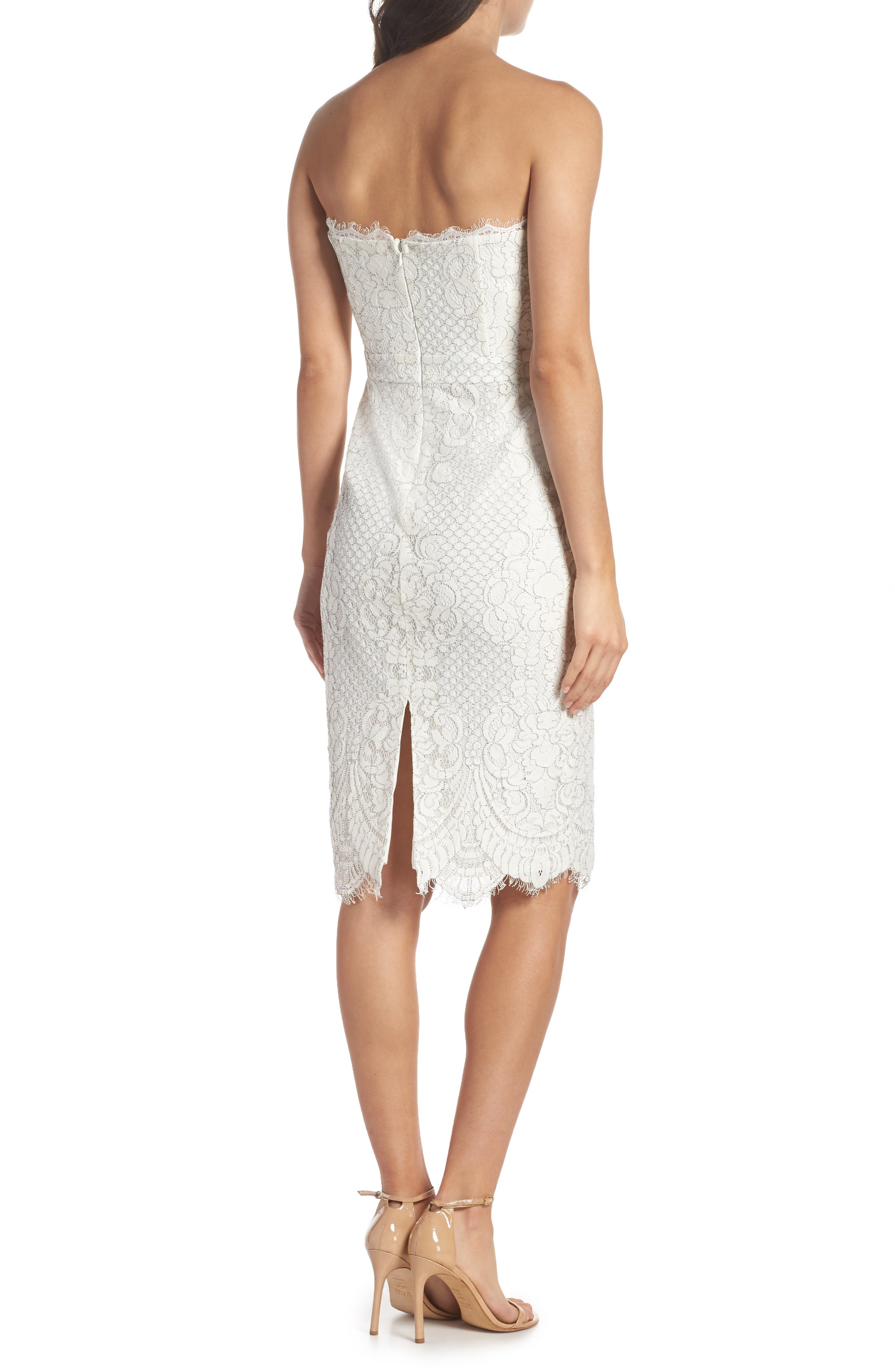 HARLYN,                             Strapless Lace Cocktail Dress,                             Alternate thumbnail 2, color,                             902