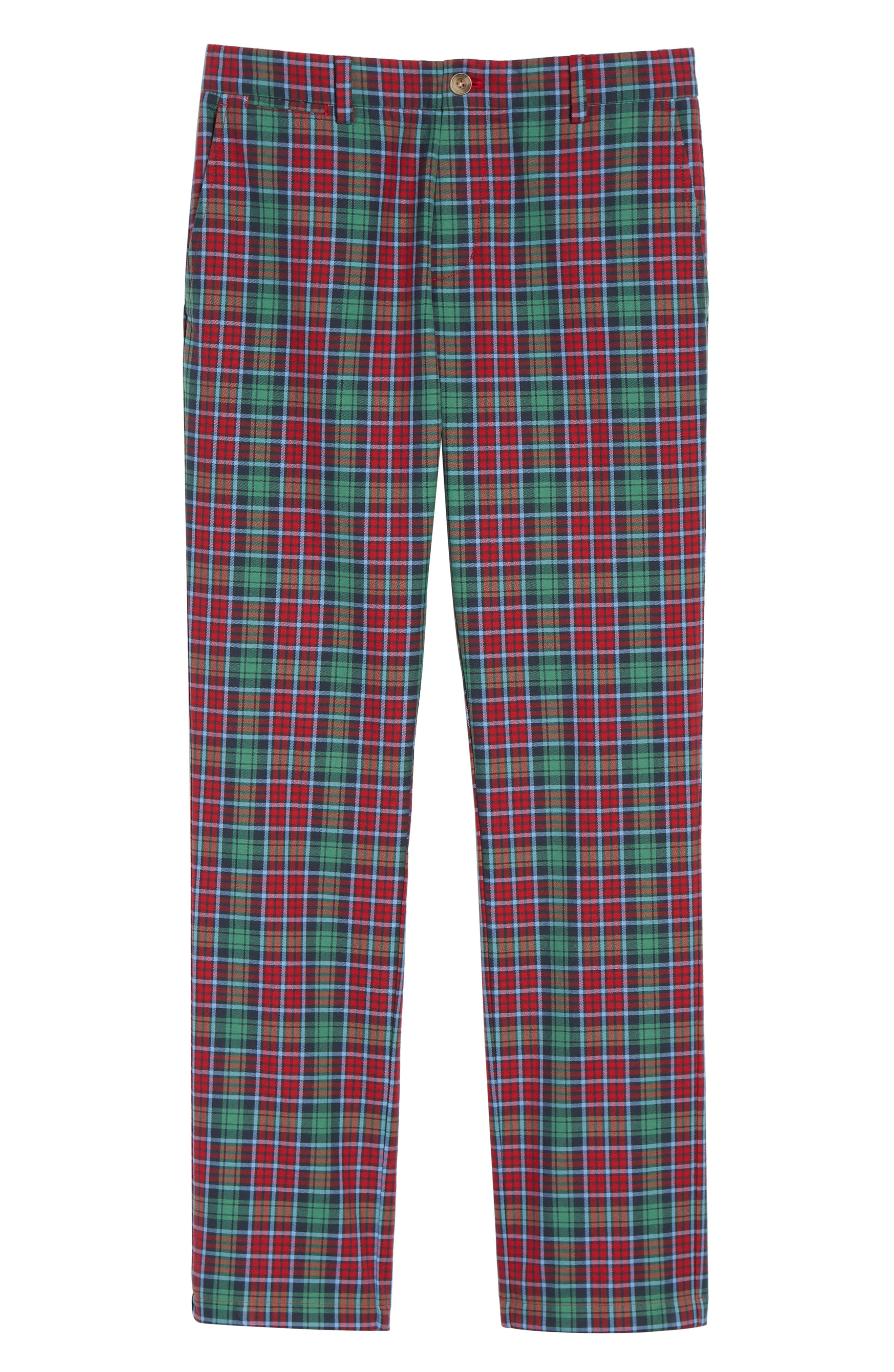 Leddy Park Slim Plaid Pants,                             Alternate thumbnail 6, color,                             342